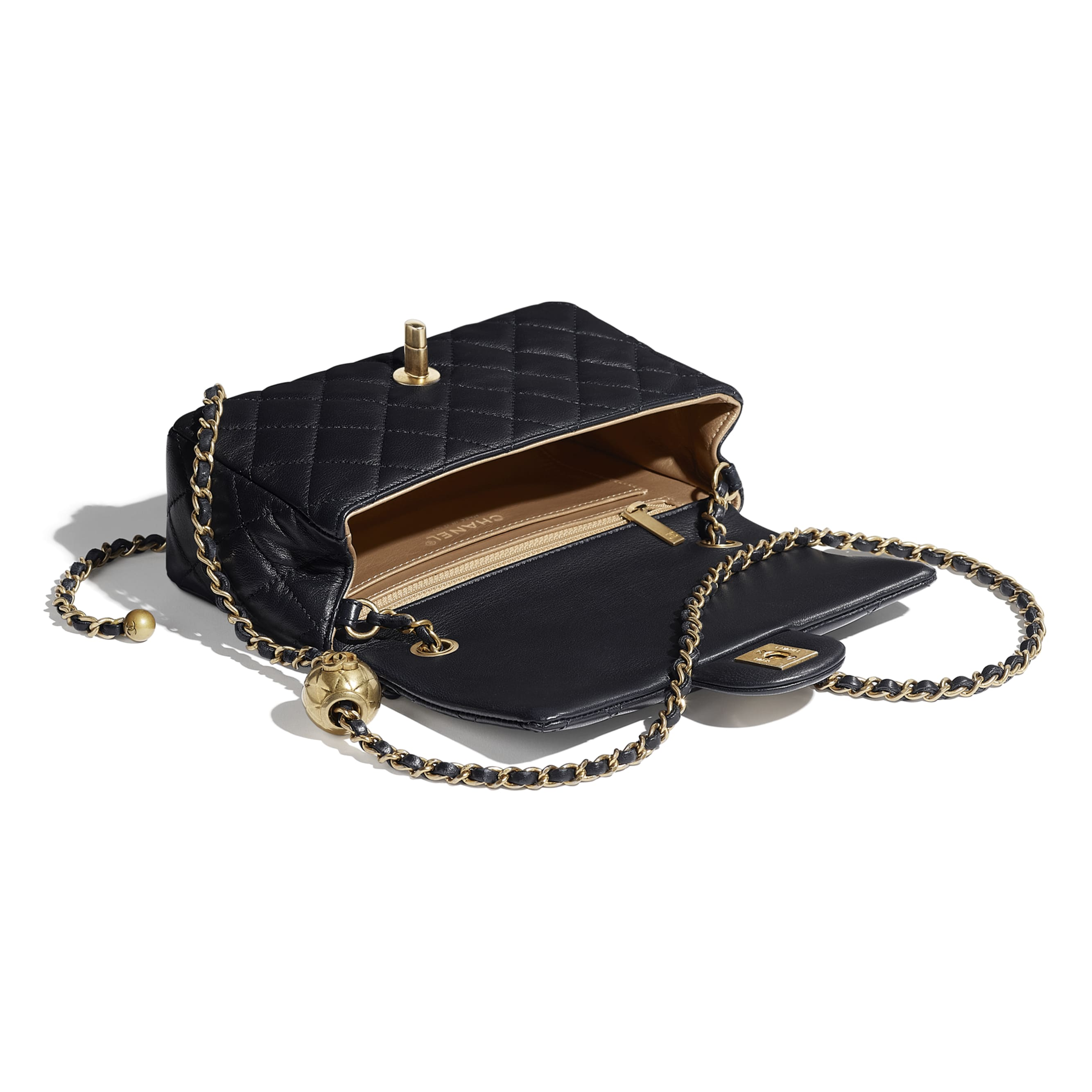 Flap Bag - Navy Blue - Lambskin - CHANEL - Other view - see standard sized version