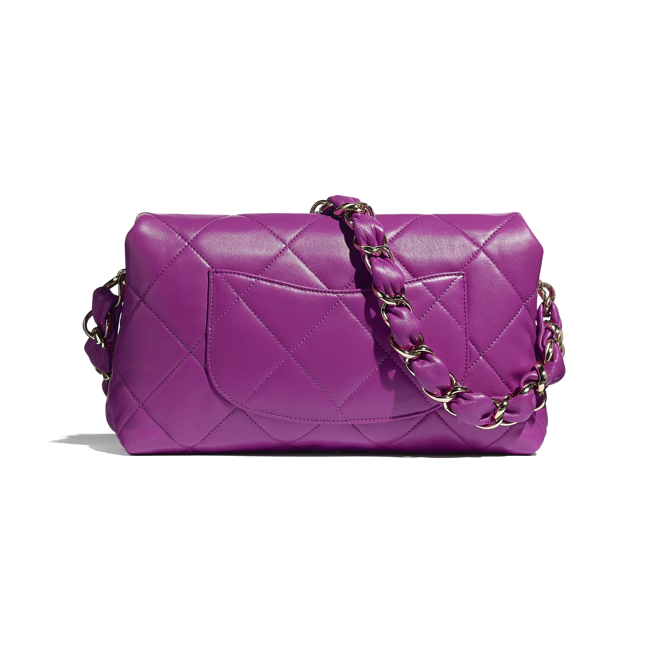 Flap Bag - Purple - Lambskin - CHANEL - Alternative view - see standard sized version