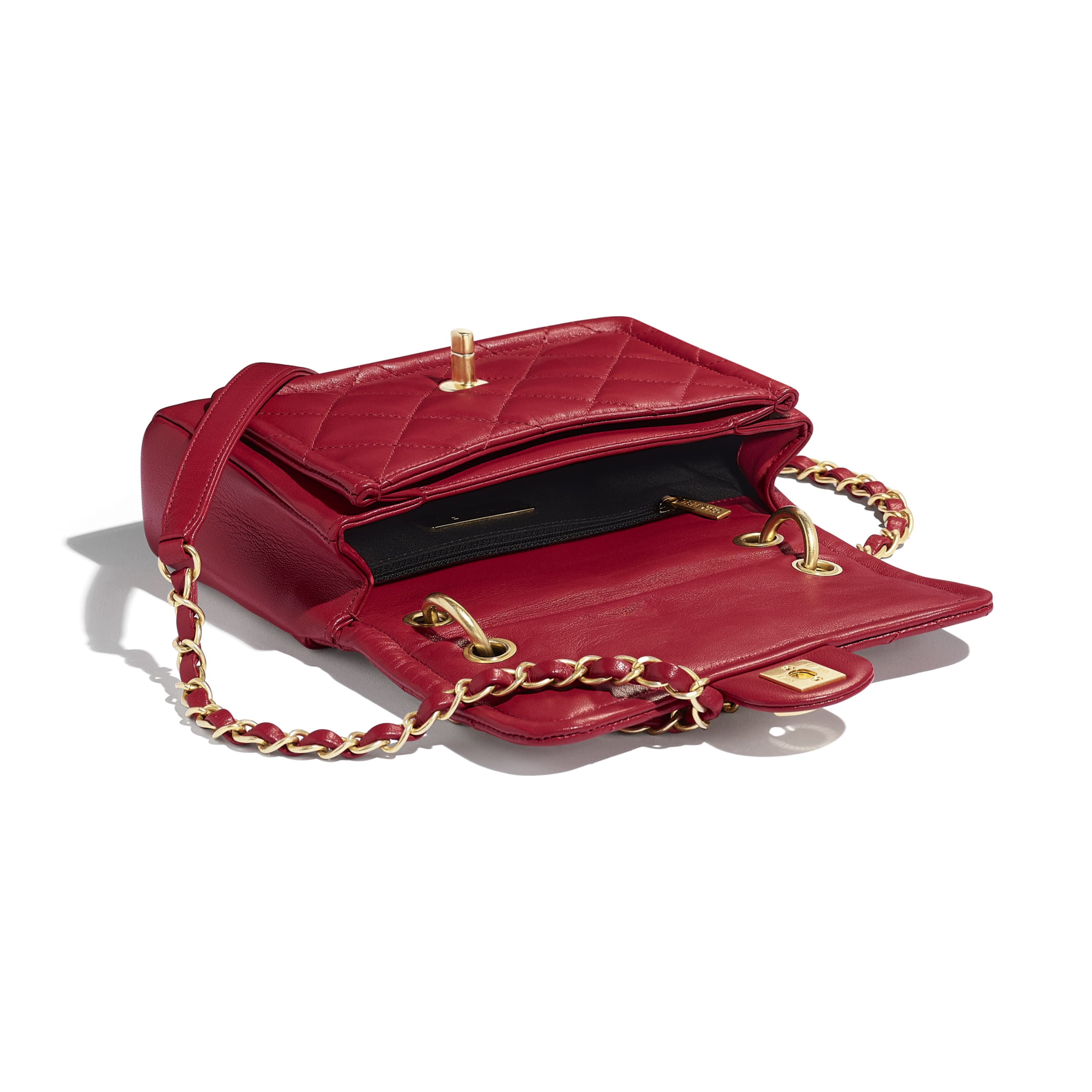 Flap Bag - Red - Lambskin - Other view - see standard sized version
