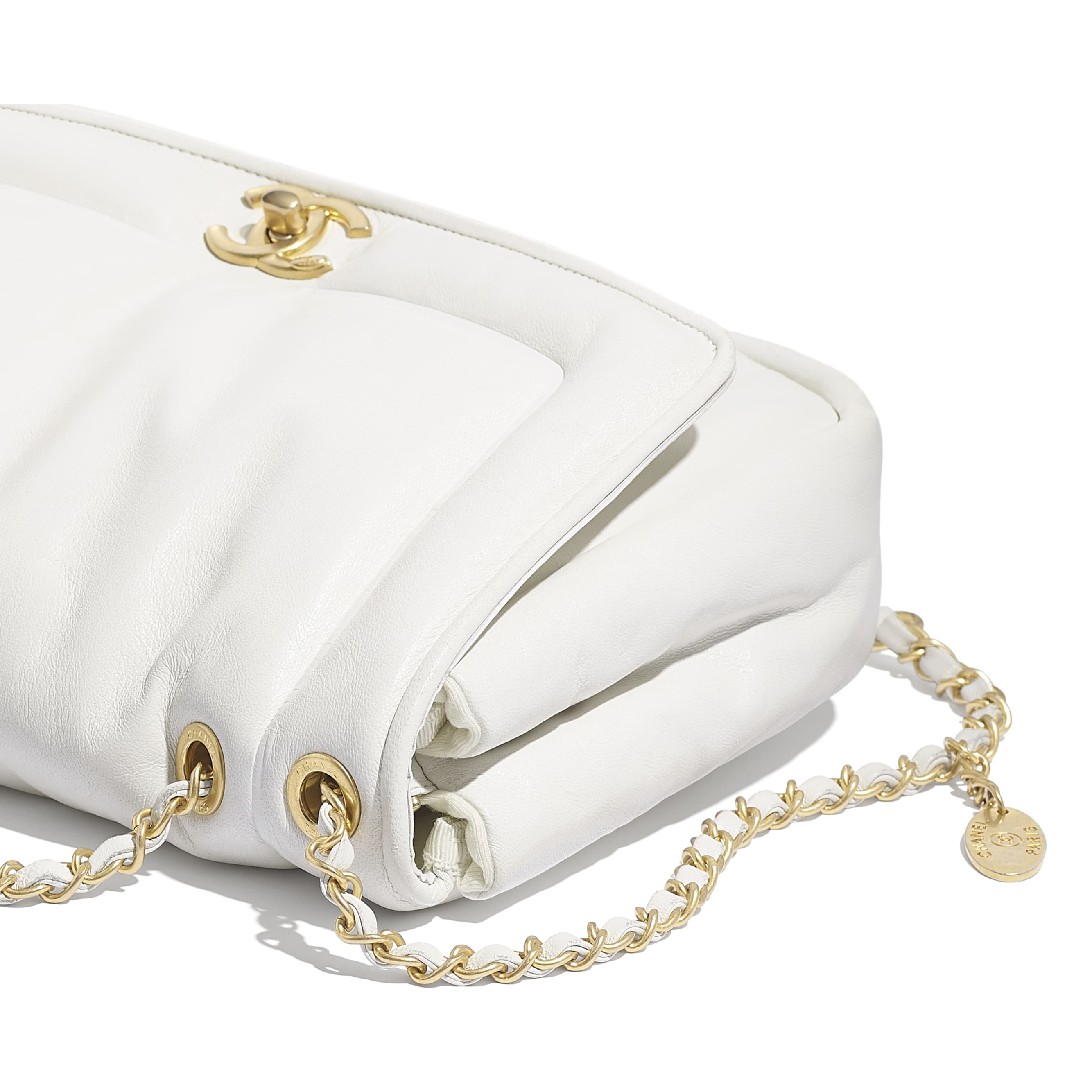 Flap Bag - White - Lambskin - Extra view - see standard sized version