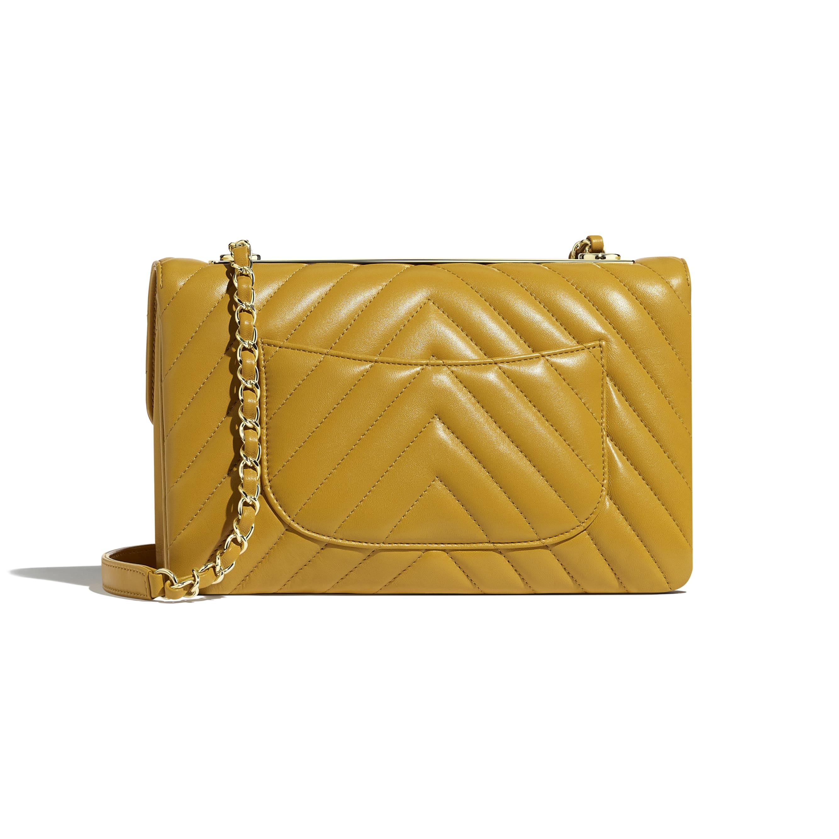 Flap Bag - Yellow - Lambskin - Alternative view - see standard sized version