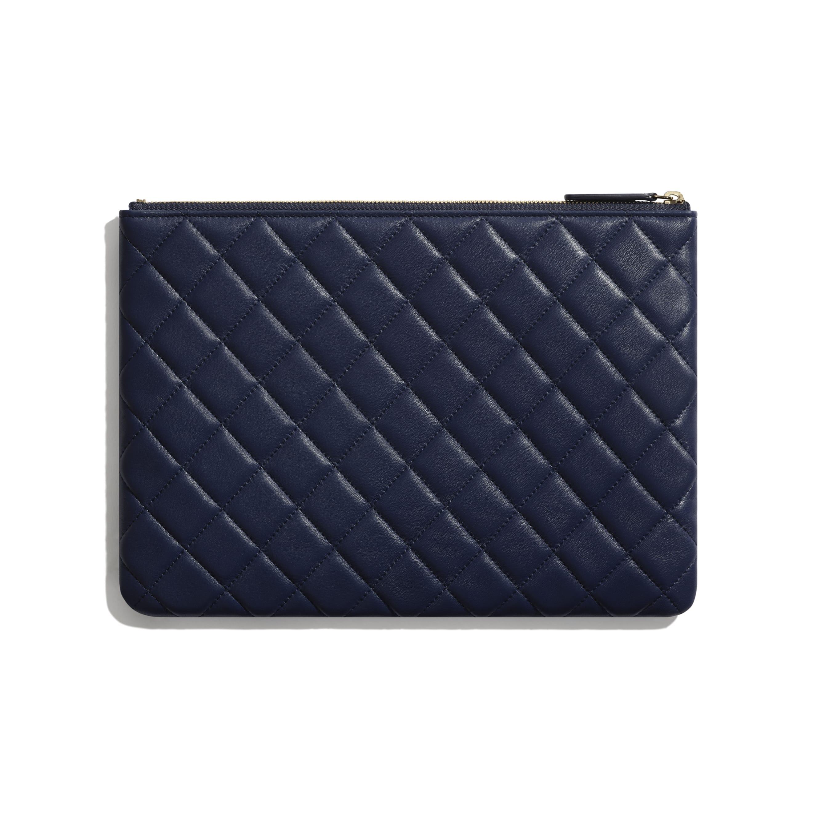 Flap Case - Navy Blue - Lambskin - Alternative view - see standard sized version