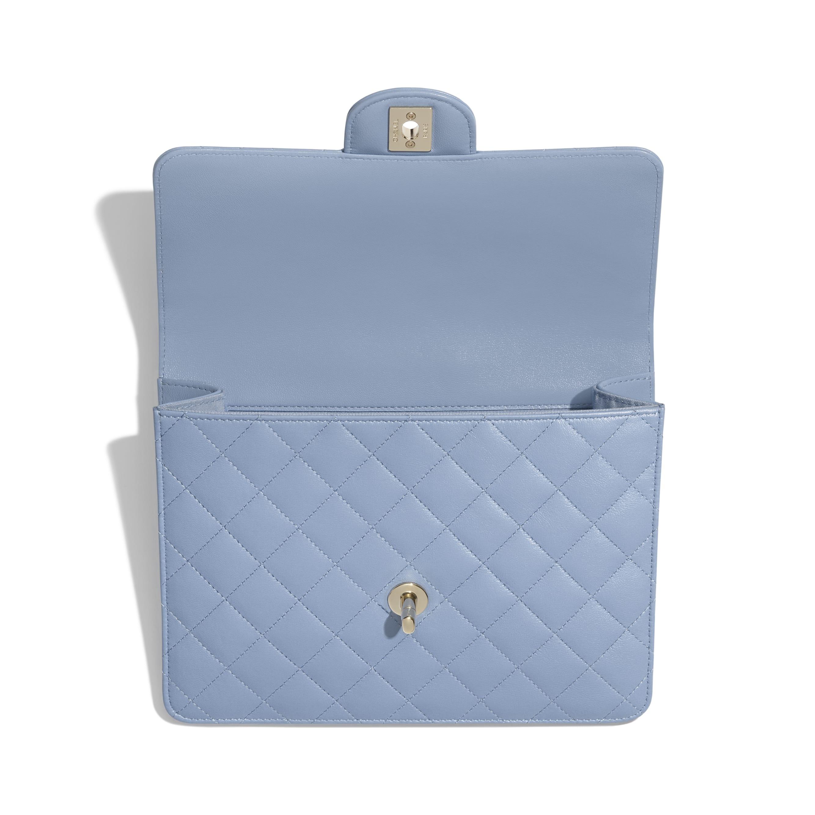 Flap Case - Sky Blue - Lambskin - CHANEL - Alternative view - see standard sized version