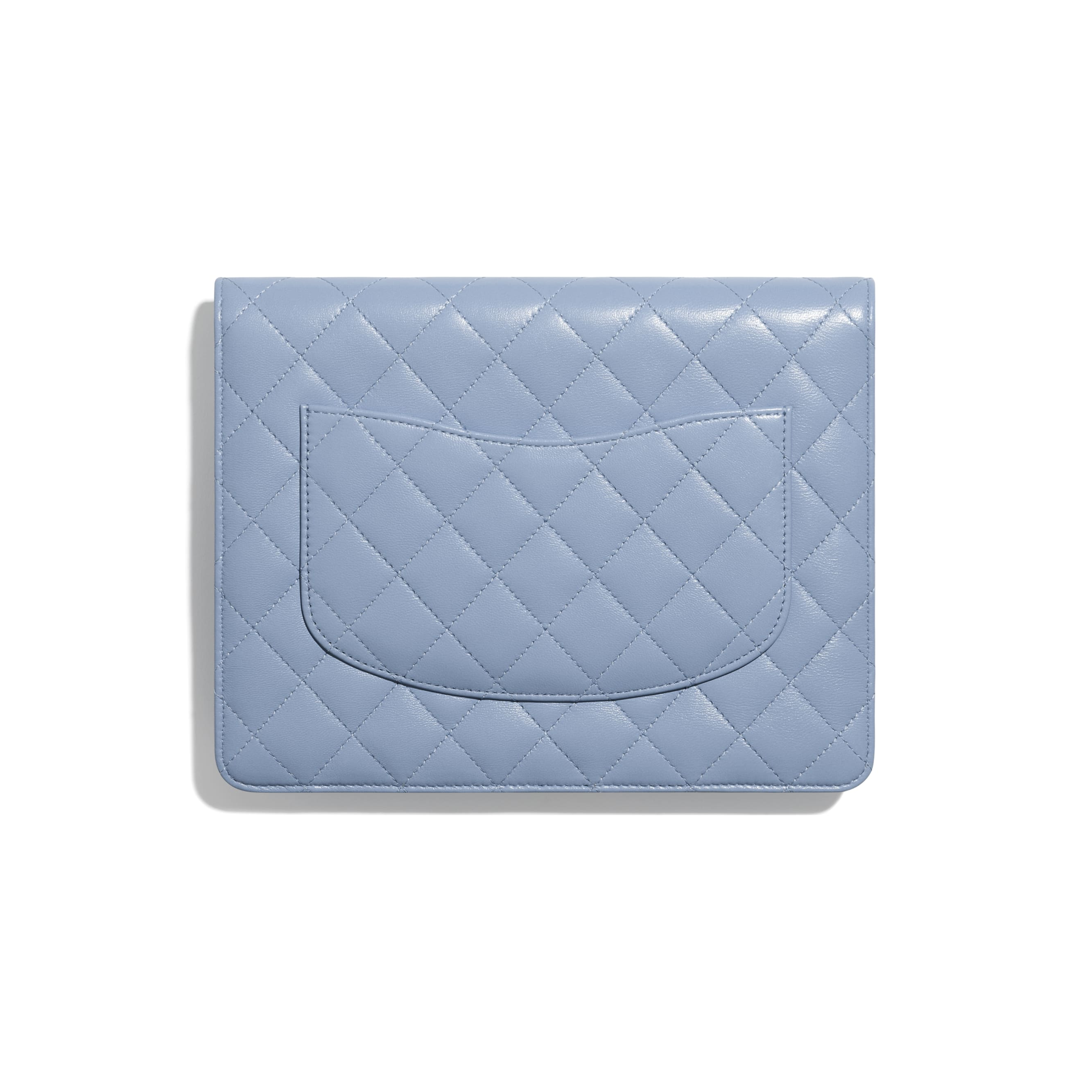 Flap Case - Sky Blue - Lambskin & Gold-Tone Metal - CHANEL - Other view - see standard sized version