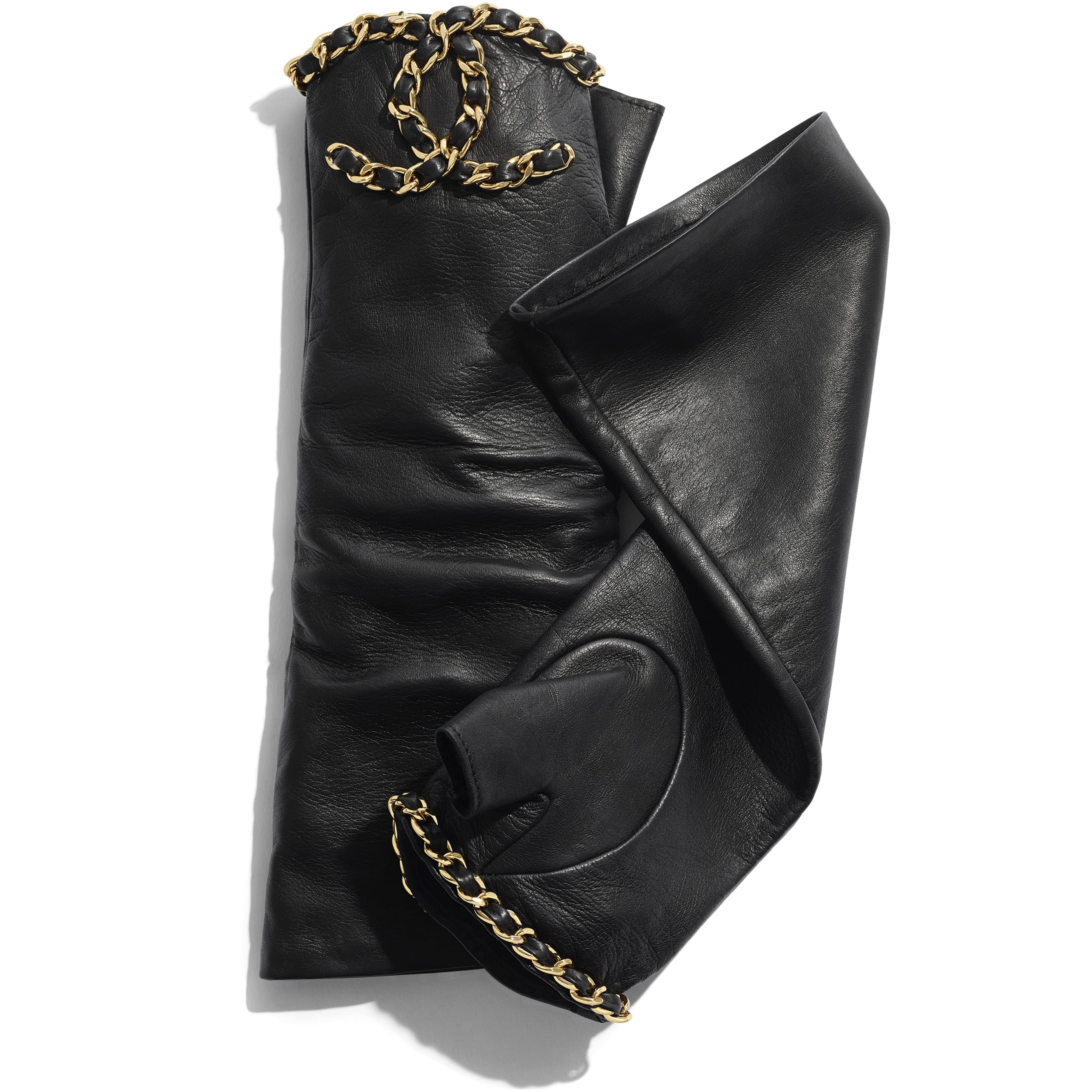 Gloves - Black - Lambskin - CHANEL - Alternative view - see standard sized version