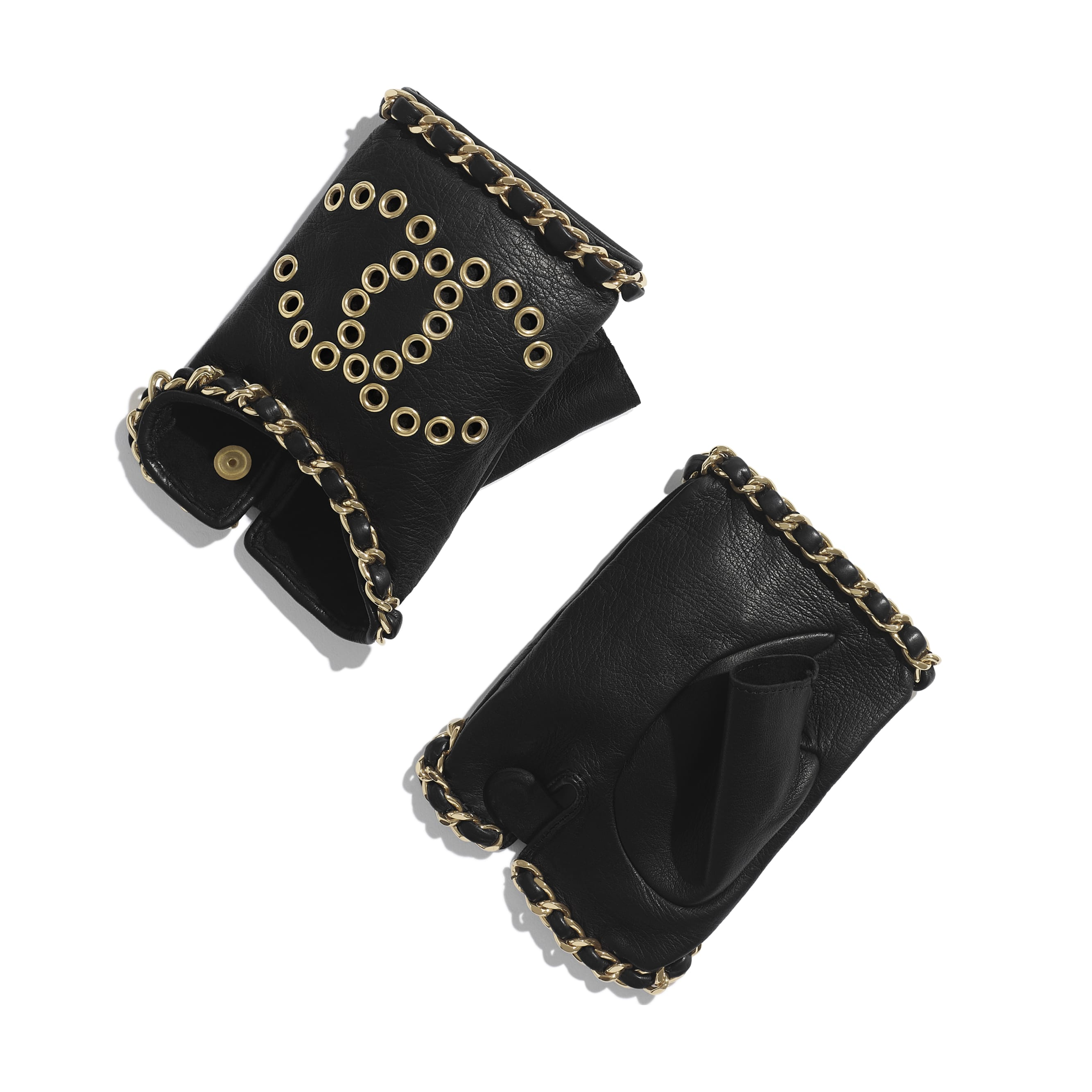 Gloves - Black - Lambskin - Default view - see standard sized version
