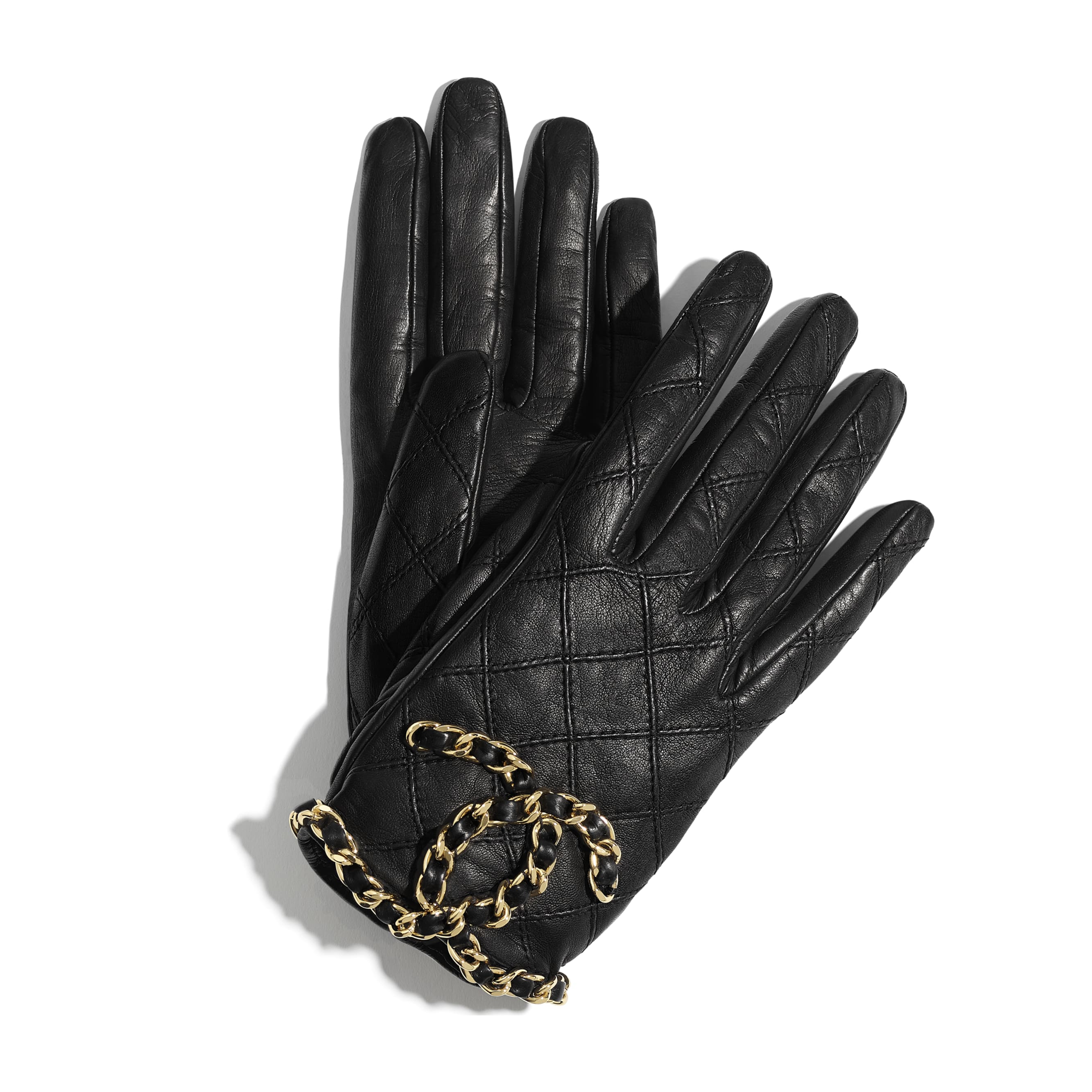 Gloves - Black - Lambskin - CHANEL - Default view - see standard sized version
