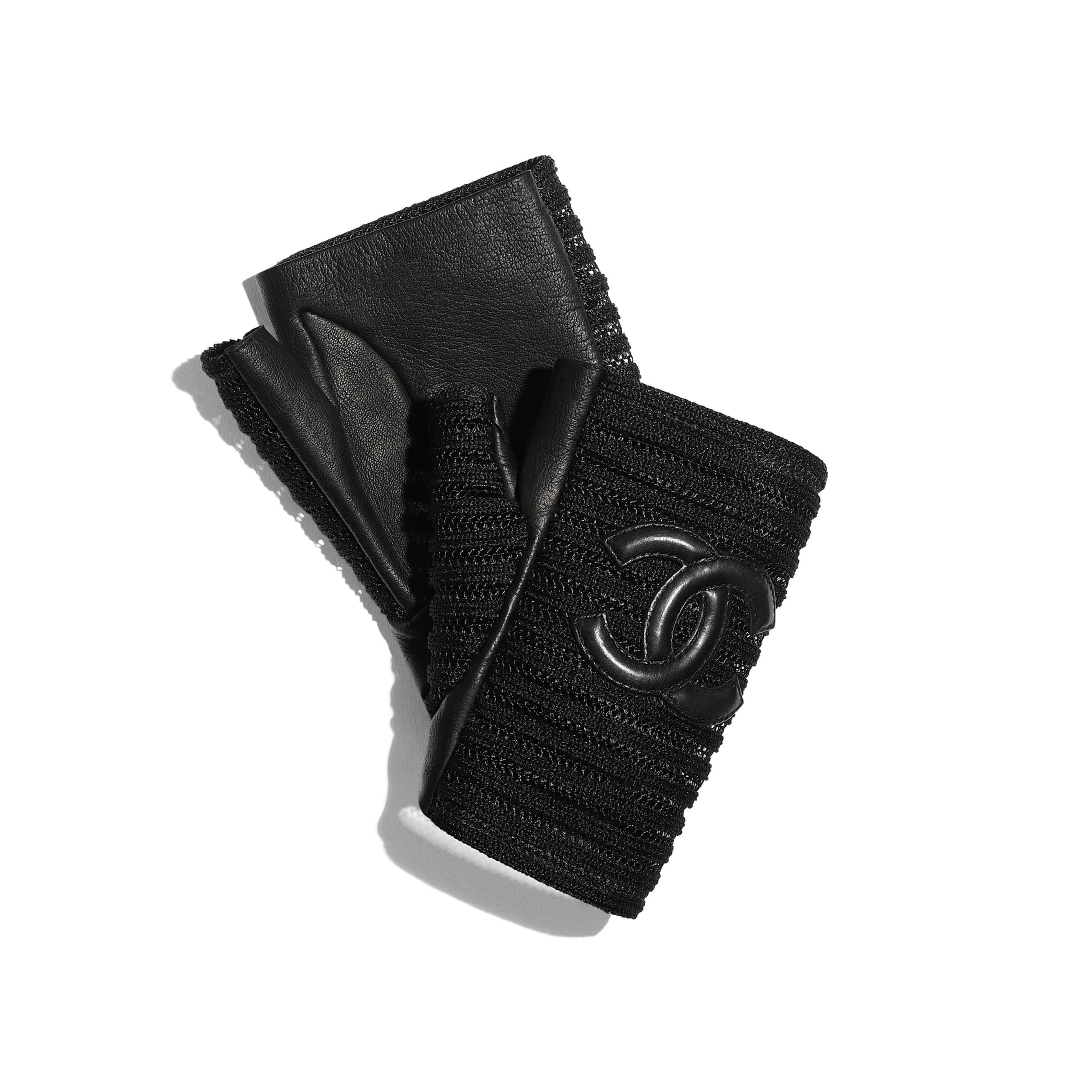 Gloves - Black - Lambskin & Synthetic Fibers - CHANEL - Alternative view - see standard sized version