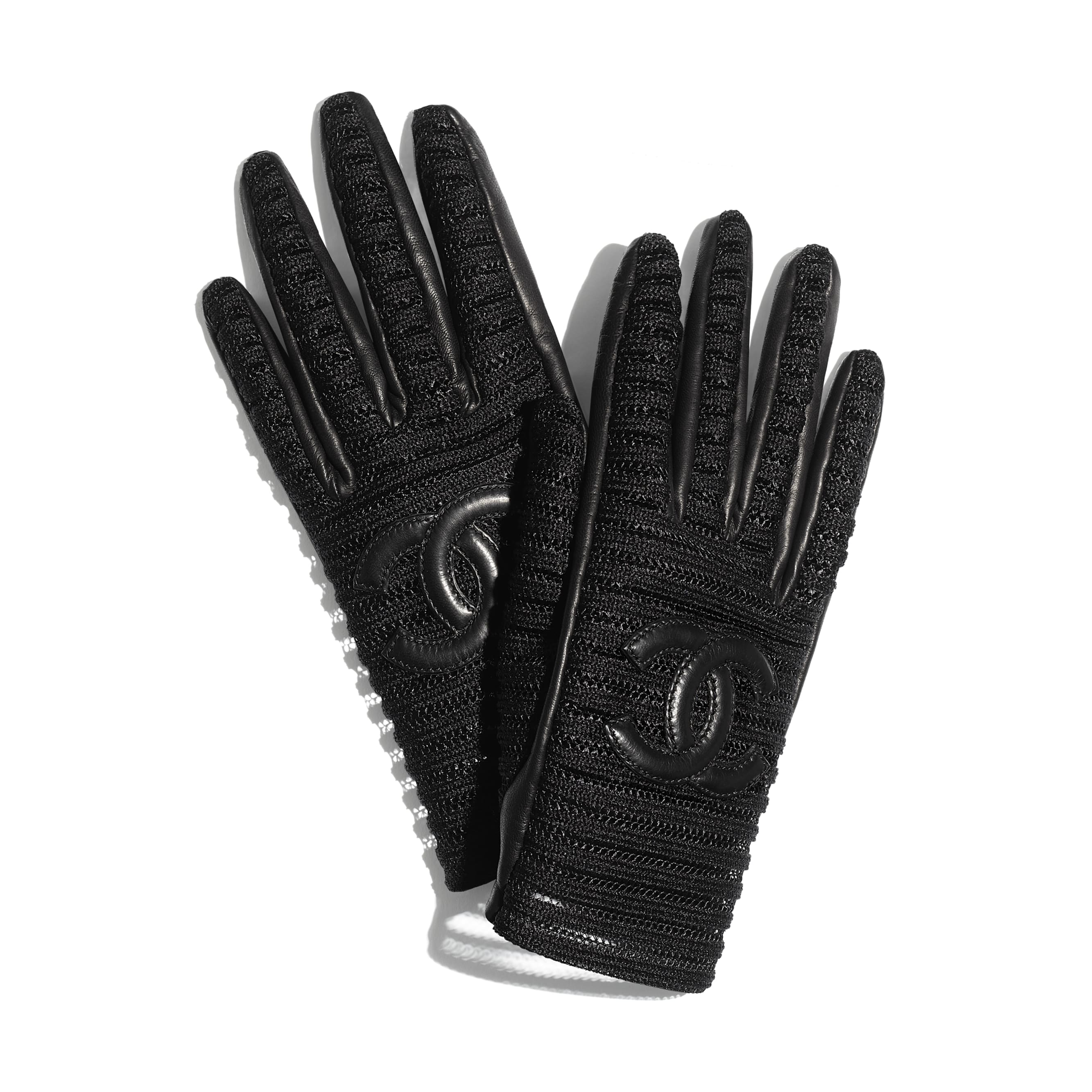 Gloves - Black - Lambskin & Synthetic Fibers - CHANEL - Default view - see standard sized version
