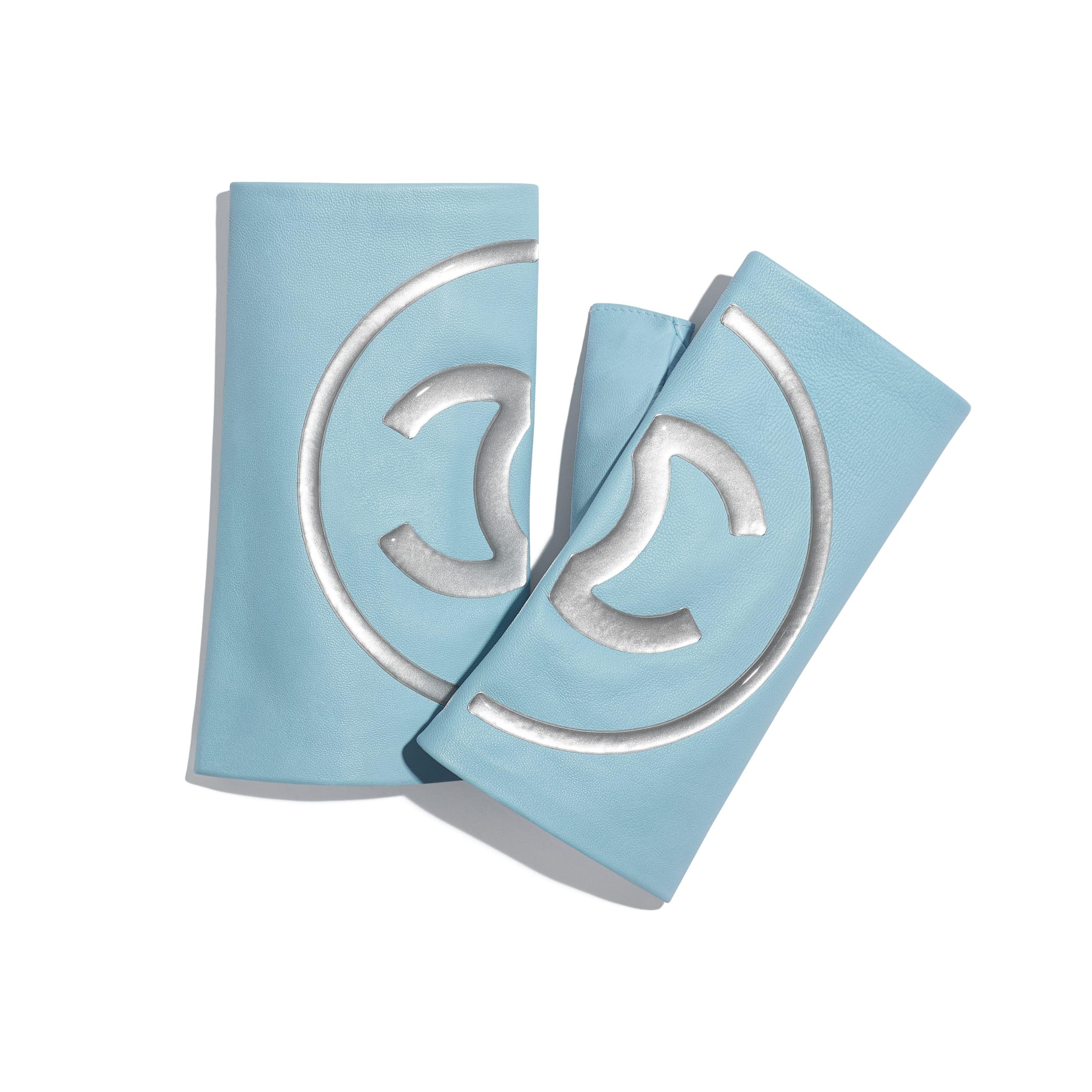 Rękawiczki - Kolor niebieski i szary - Skóra jagnięca - Widok domyślny – zobacz w standardowym rozmiarze