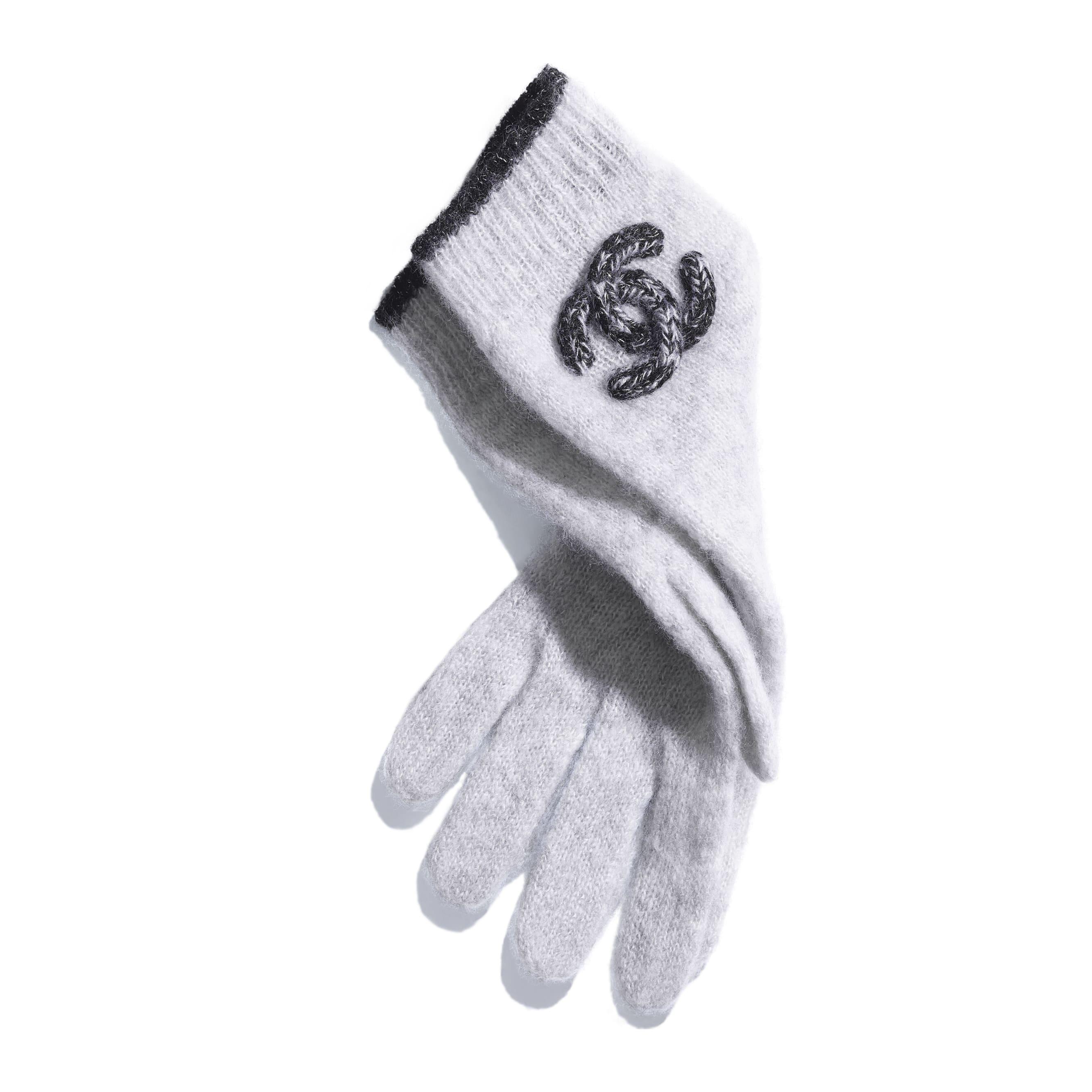 Gloves - Grey - Cashmere & Silk - Alternative view - see standard sized version