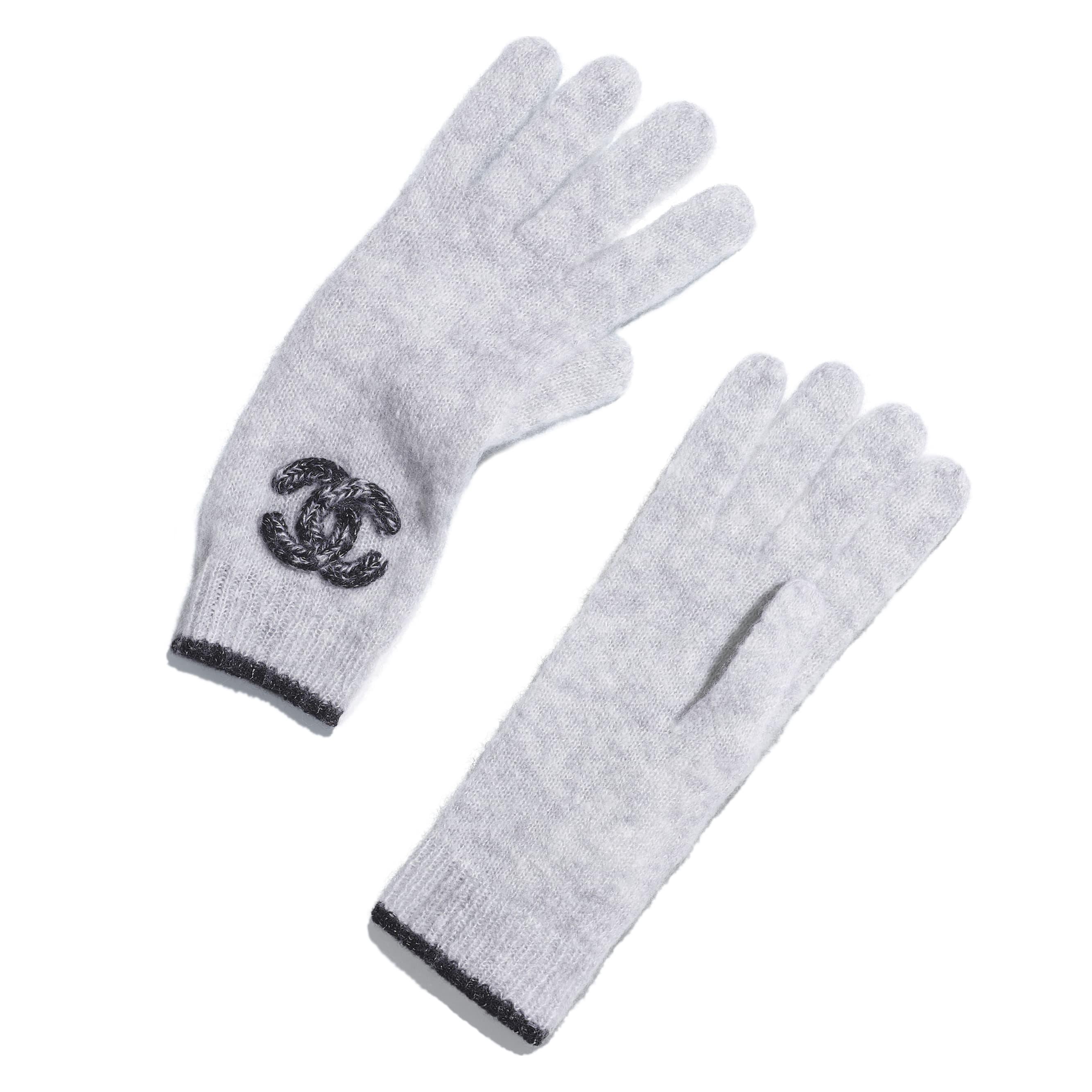 Gloves - Grey - Cashmere & Silk - Default view - see standard sized version