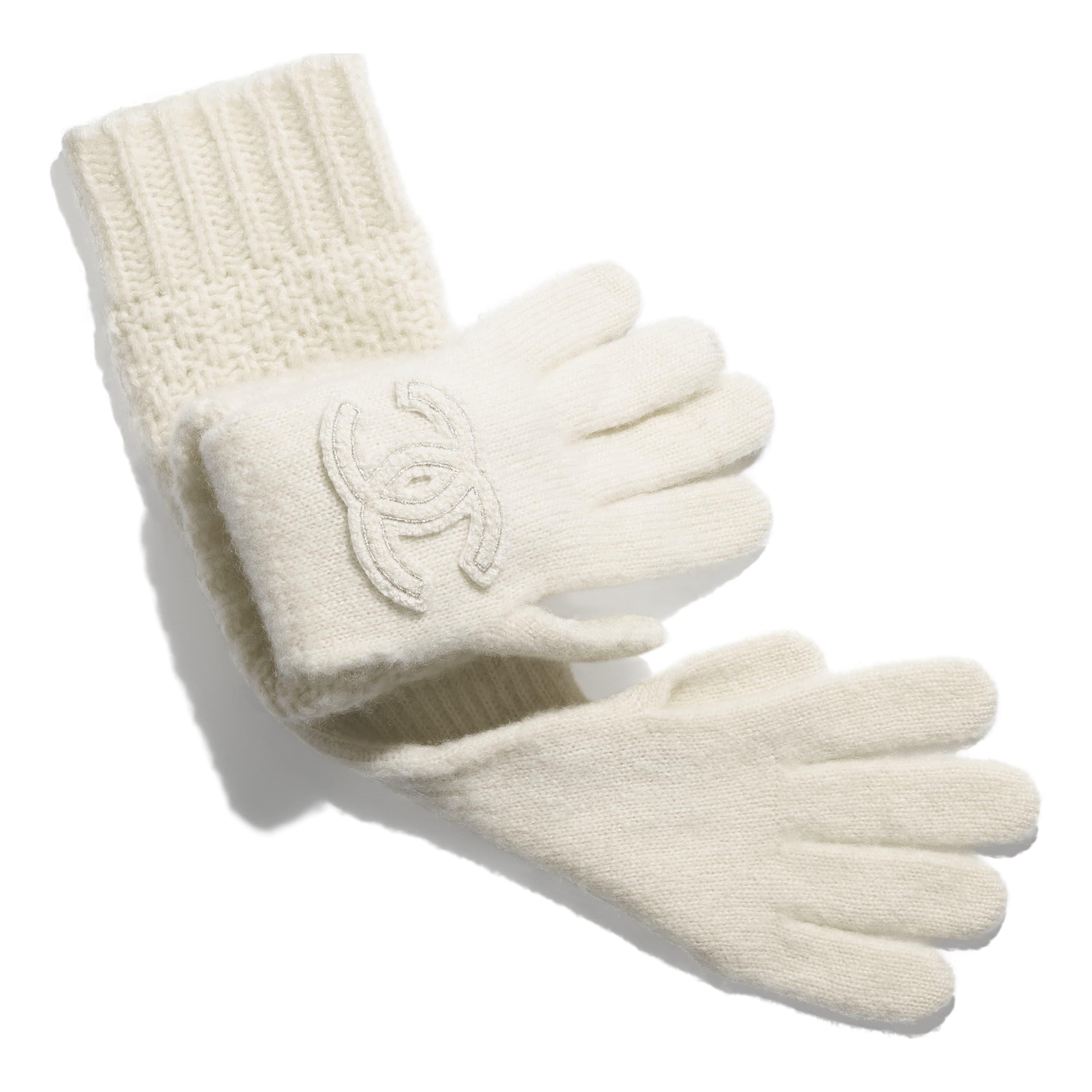Gloves - Ivory - Cashmere & Silk - CHANEL - Alternative view - see standard sized version