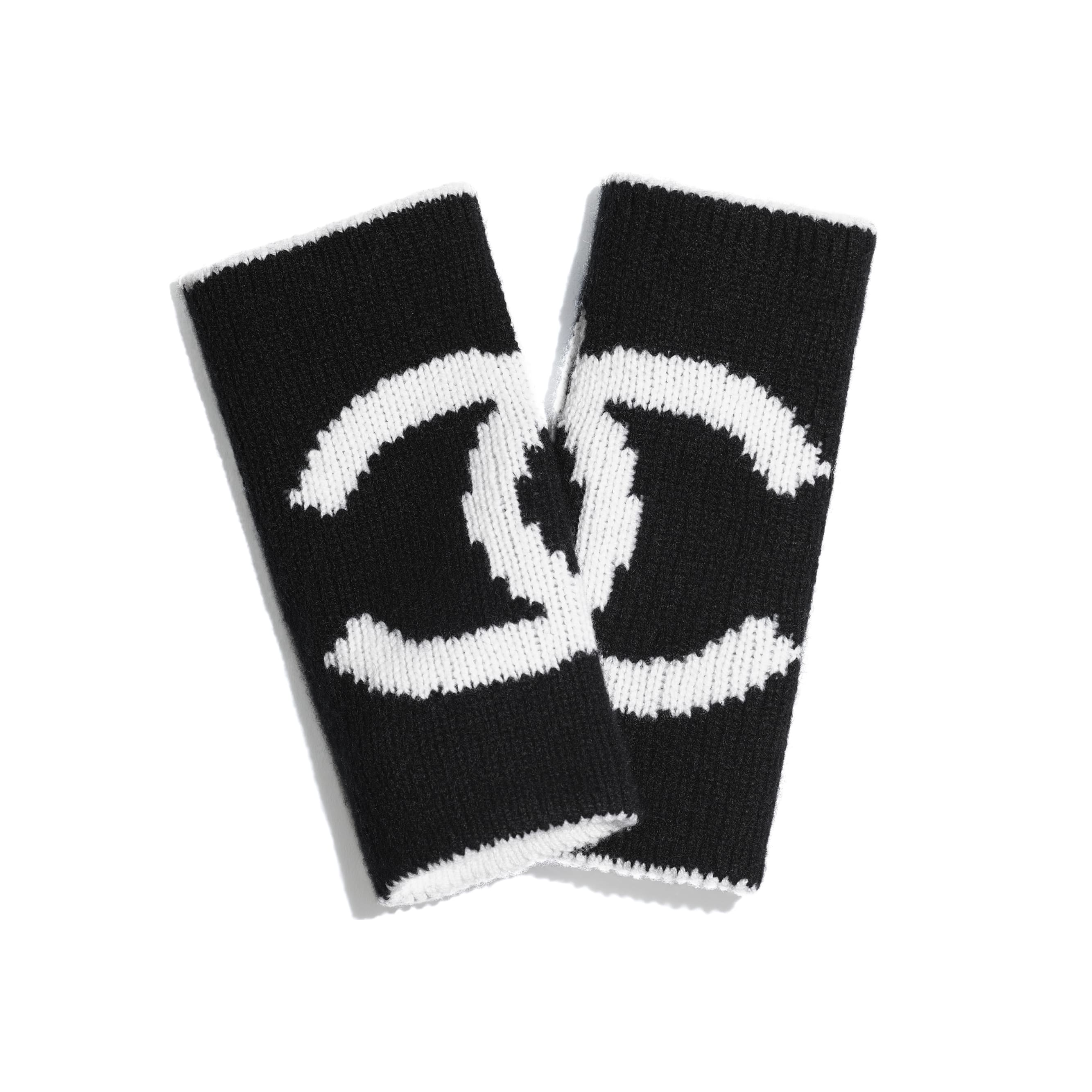 Gloves - White & Black - Cashmere - CHANEL - Alternative view - see standard sized version