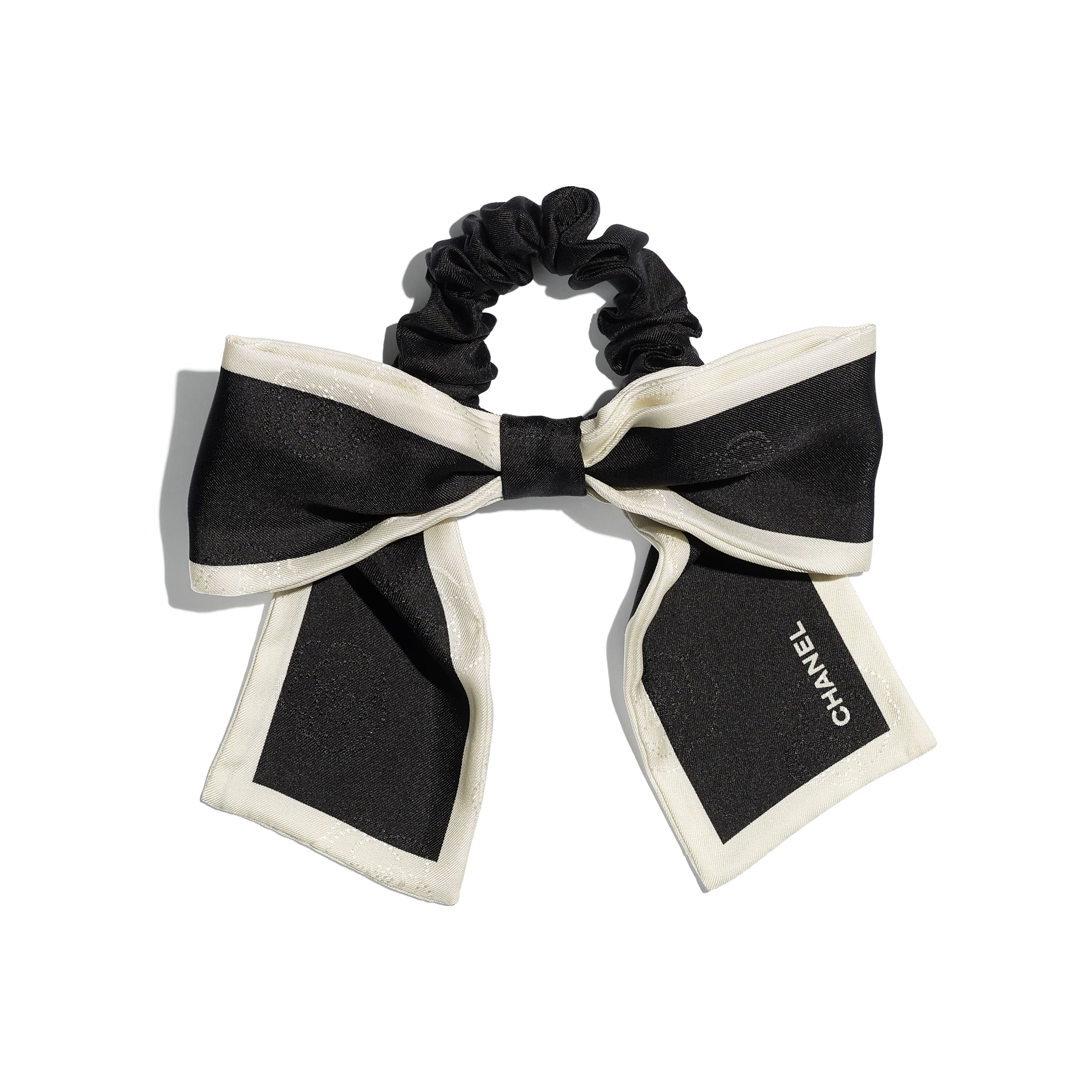 Hair Accessory - Black & Ivory - Silk Twill - CHANEL - Default view - see standard sized version
