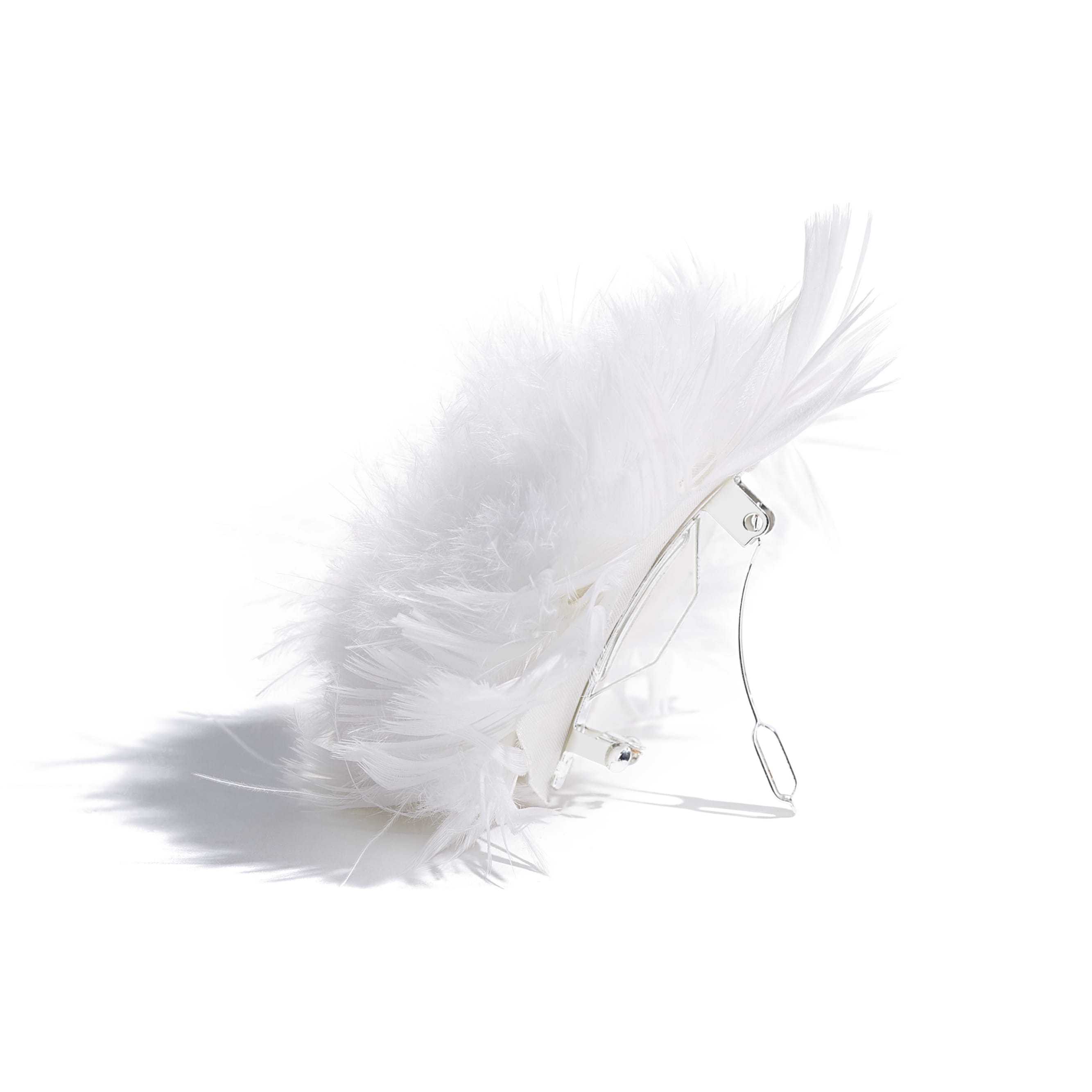 Hair Accessory - White - Feathers - Alternative view - see standard sized version