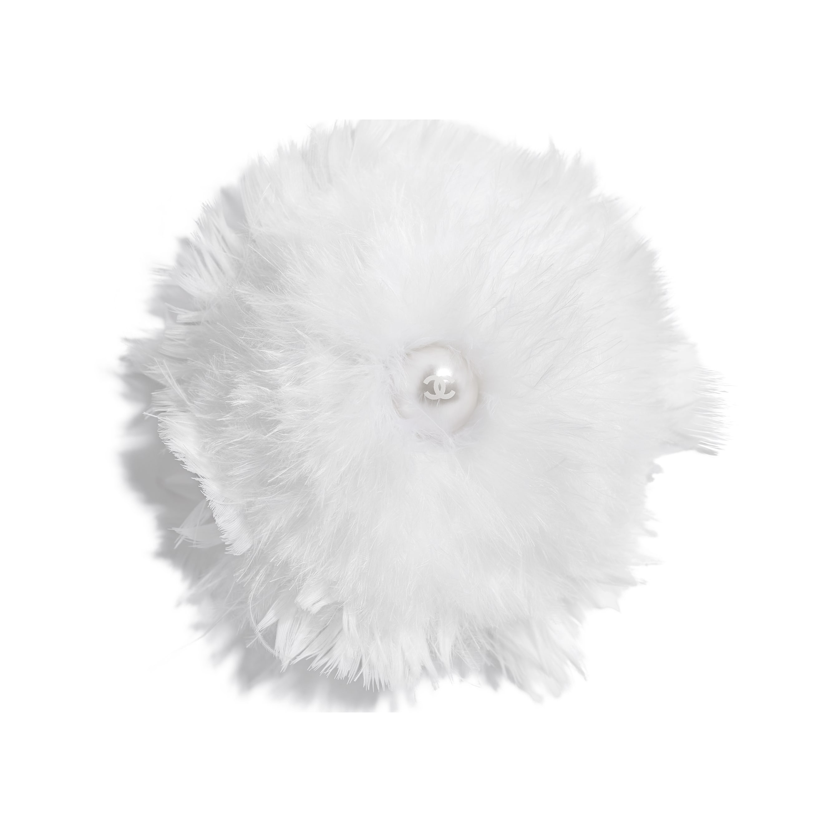 Hair Accessory - White - Feathers - Default view - see standard sized version