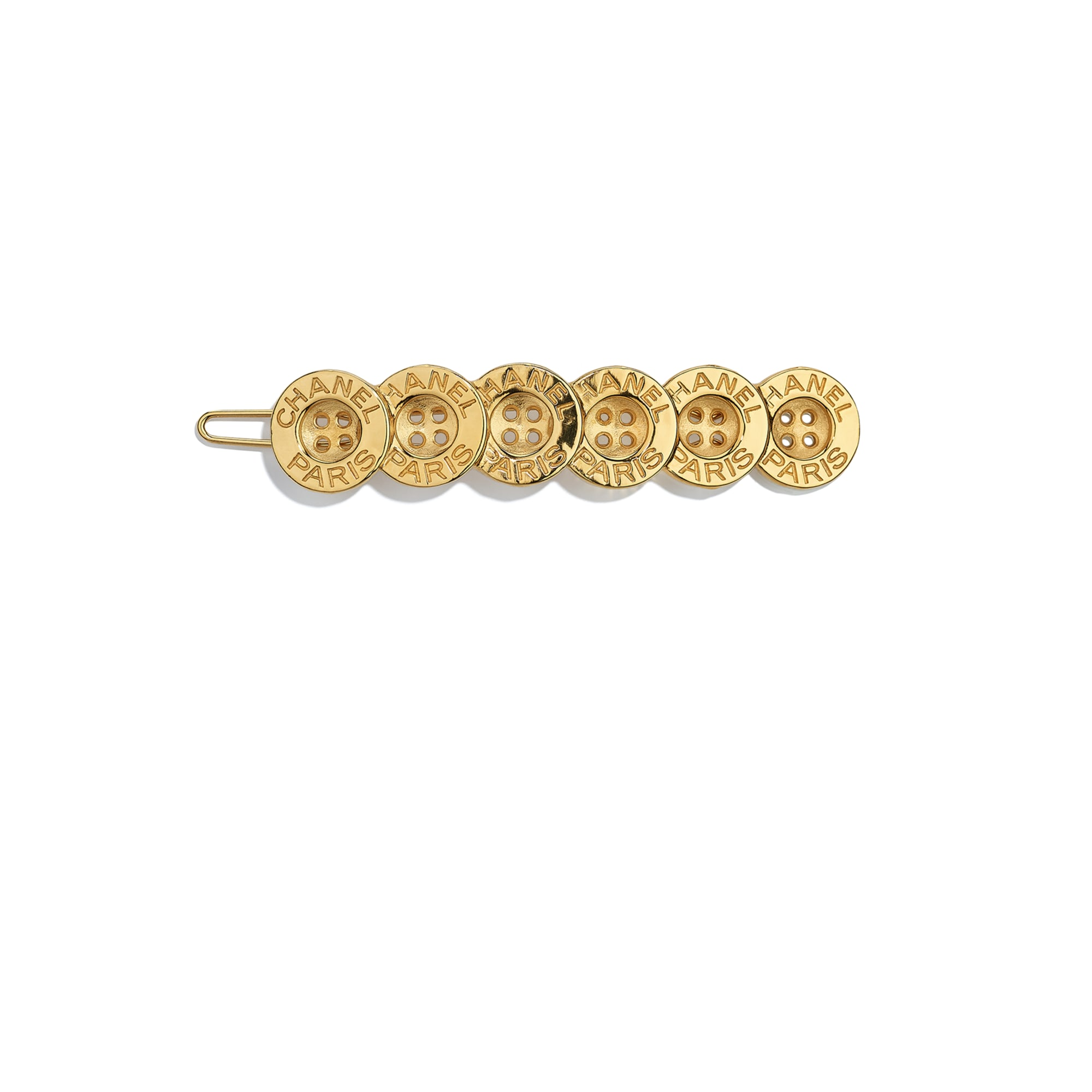 Hair Clip - Gold - Metal - CHANEL - Default view - see standard sized version