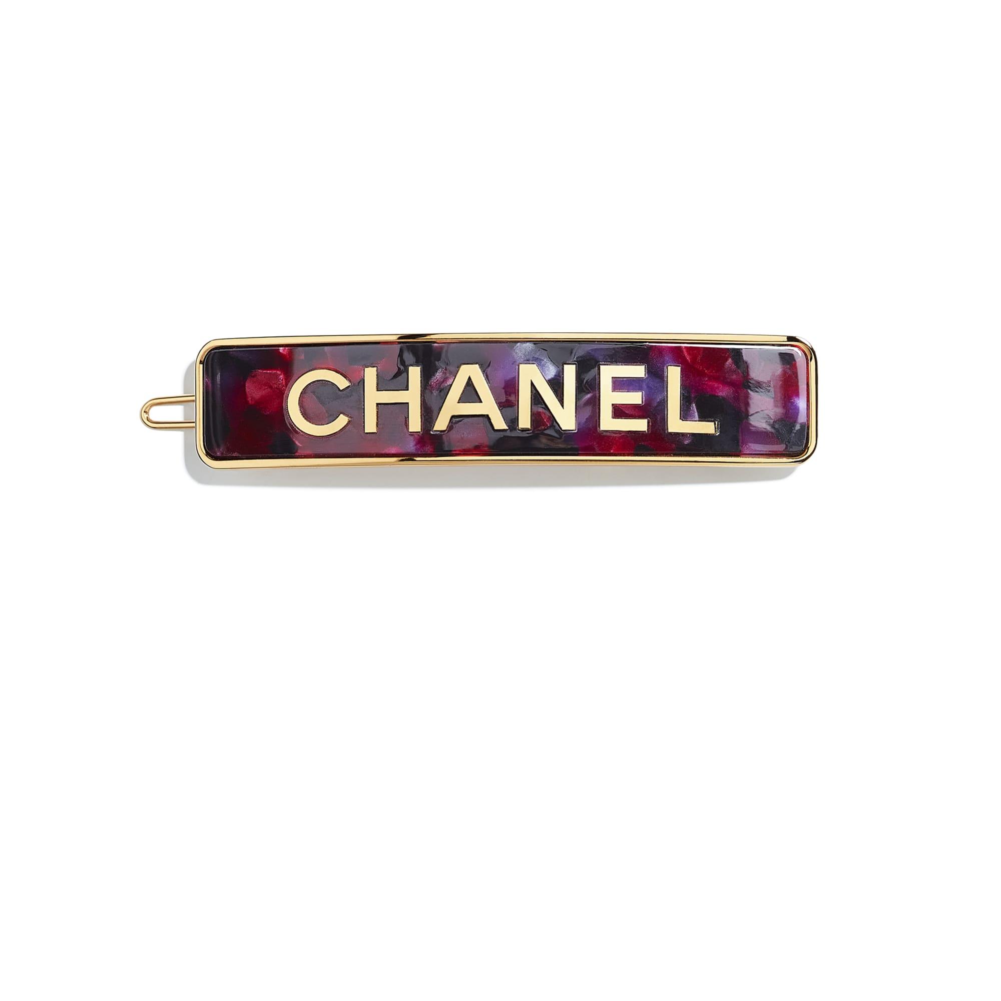 Заколка для волос - Золотистый и розовый - Металл и смола - CHANEL - Вид по умолчанию - посмотреть изображение стандартного размера