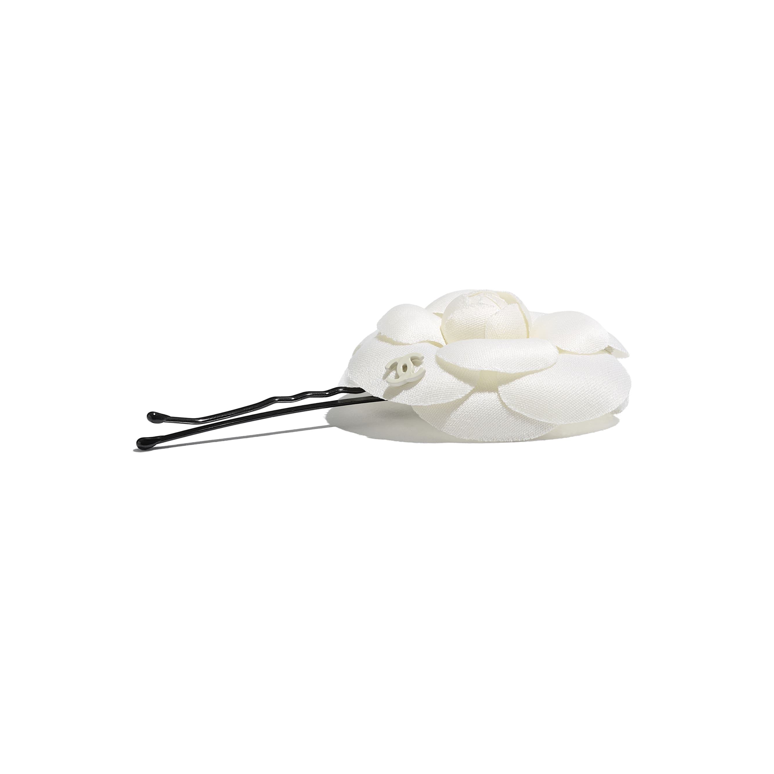 Hair Clip - Ivory - Silk, Cotton, Mixed Fibres & Metal - CHANEL - Alternative view - see standard sized version