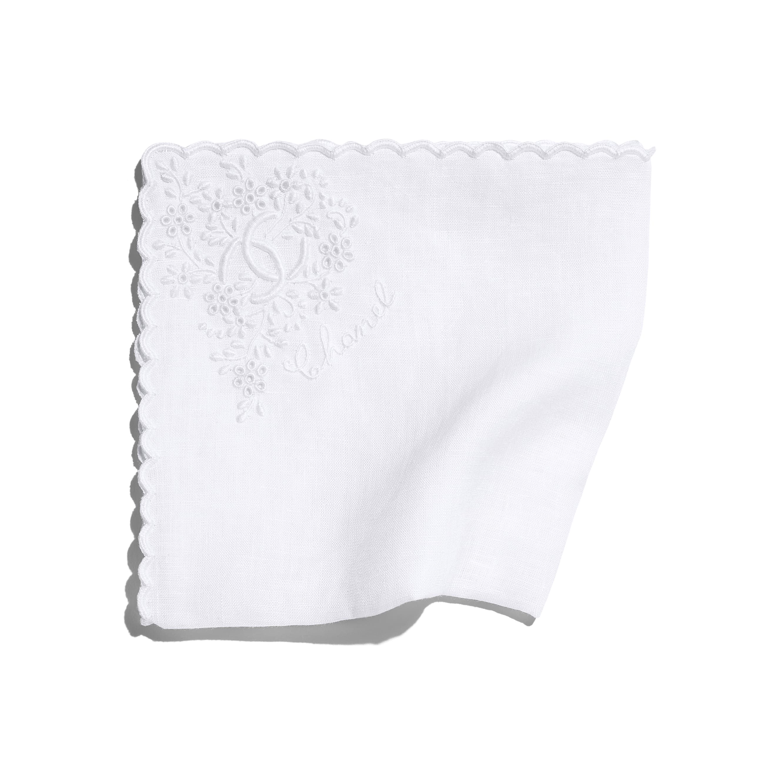 Handkerchief - White - Linen - Default view - see standard sized version
