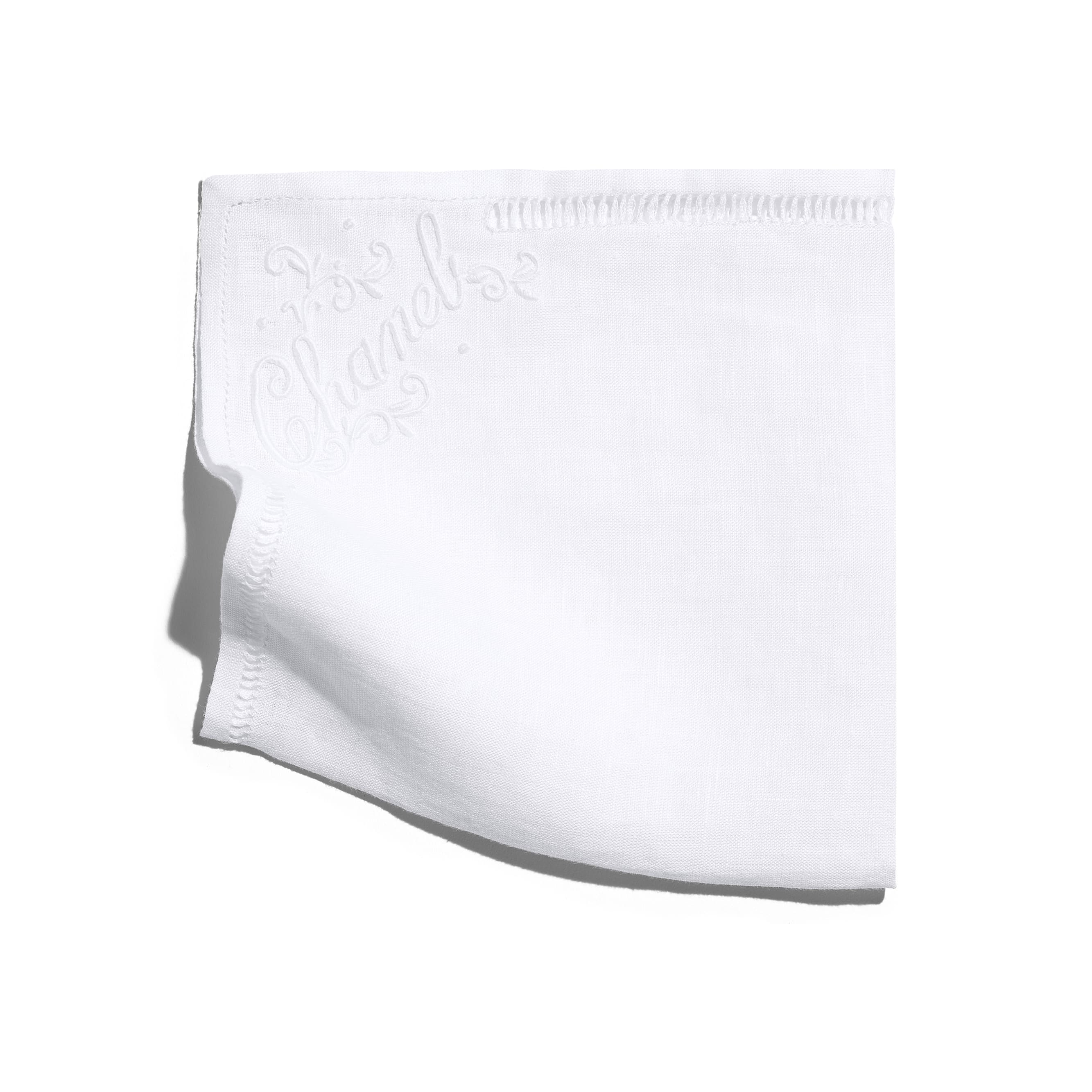 Handkerchief - White - Linen - CHANEL - Default view - see standard sized version