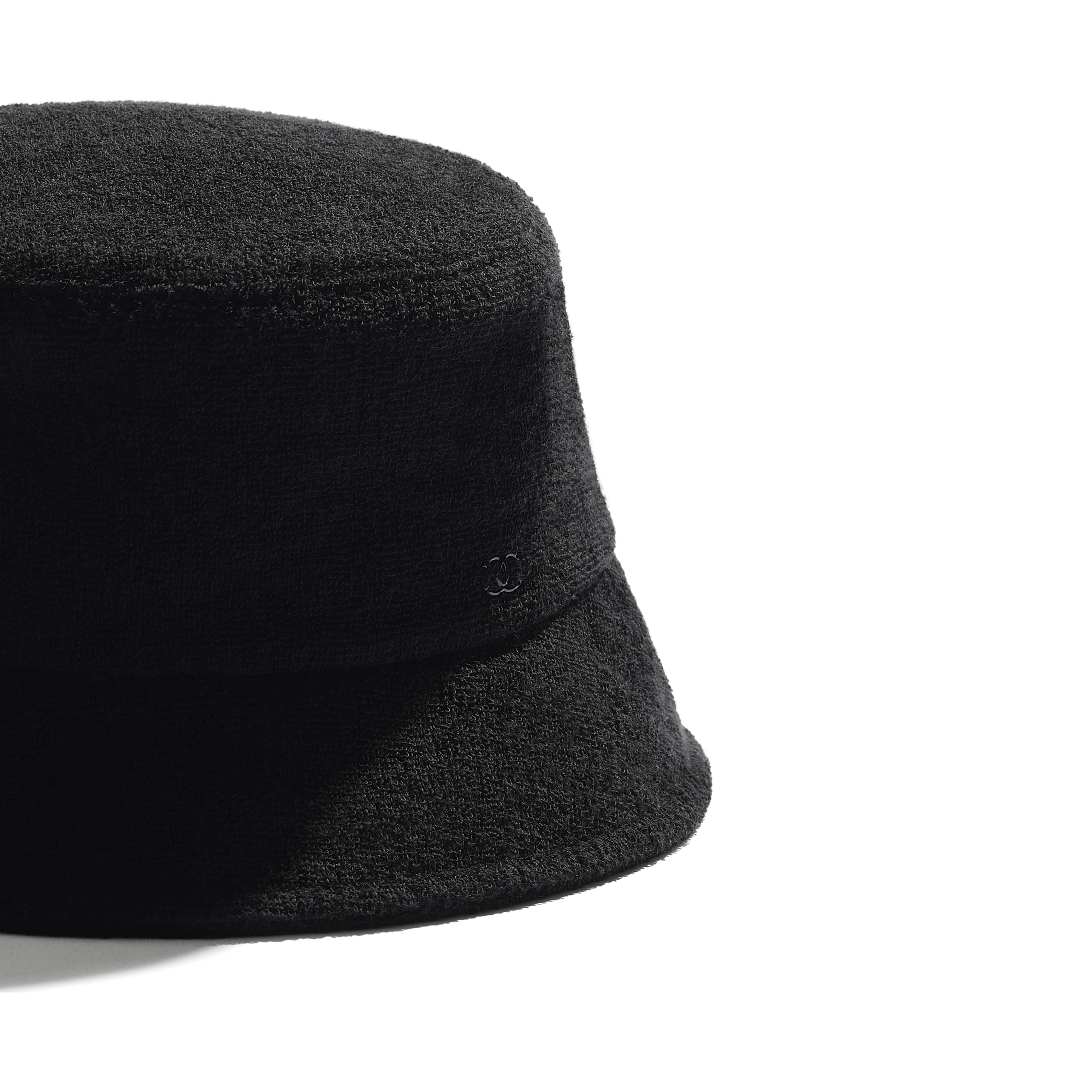 Hat - Black - Cotton Terrycloth - CHANEL - Alternative view - see standard sized version