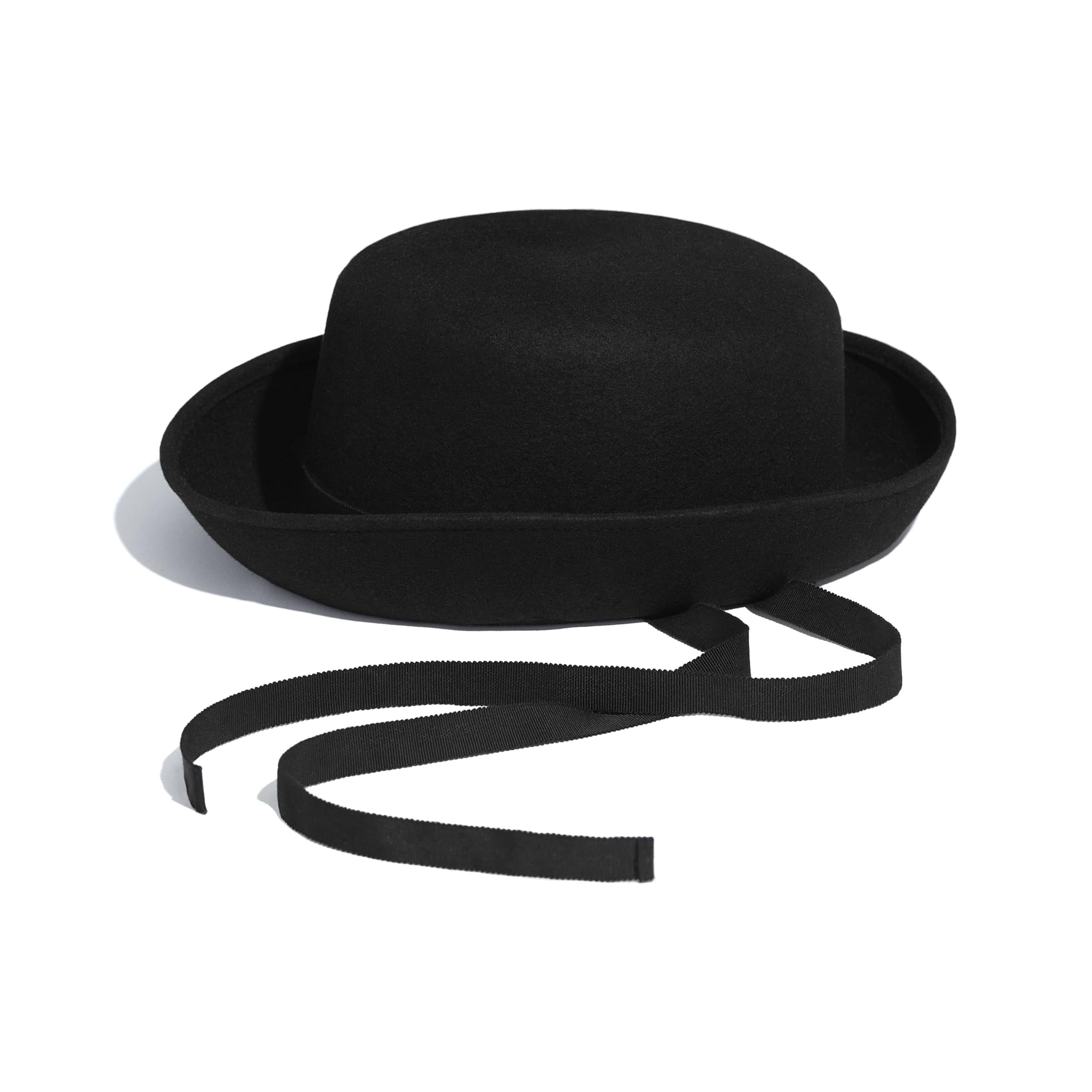 Hat - Black - Felt & Grosgrain - Default view - see standard sized version
