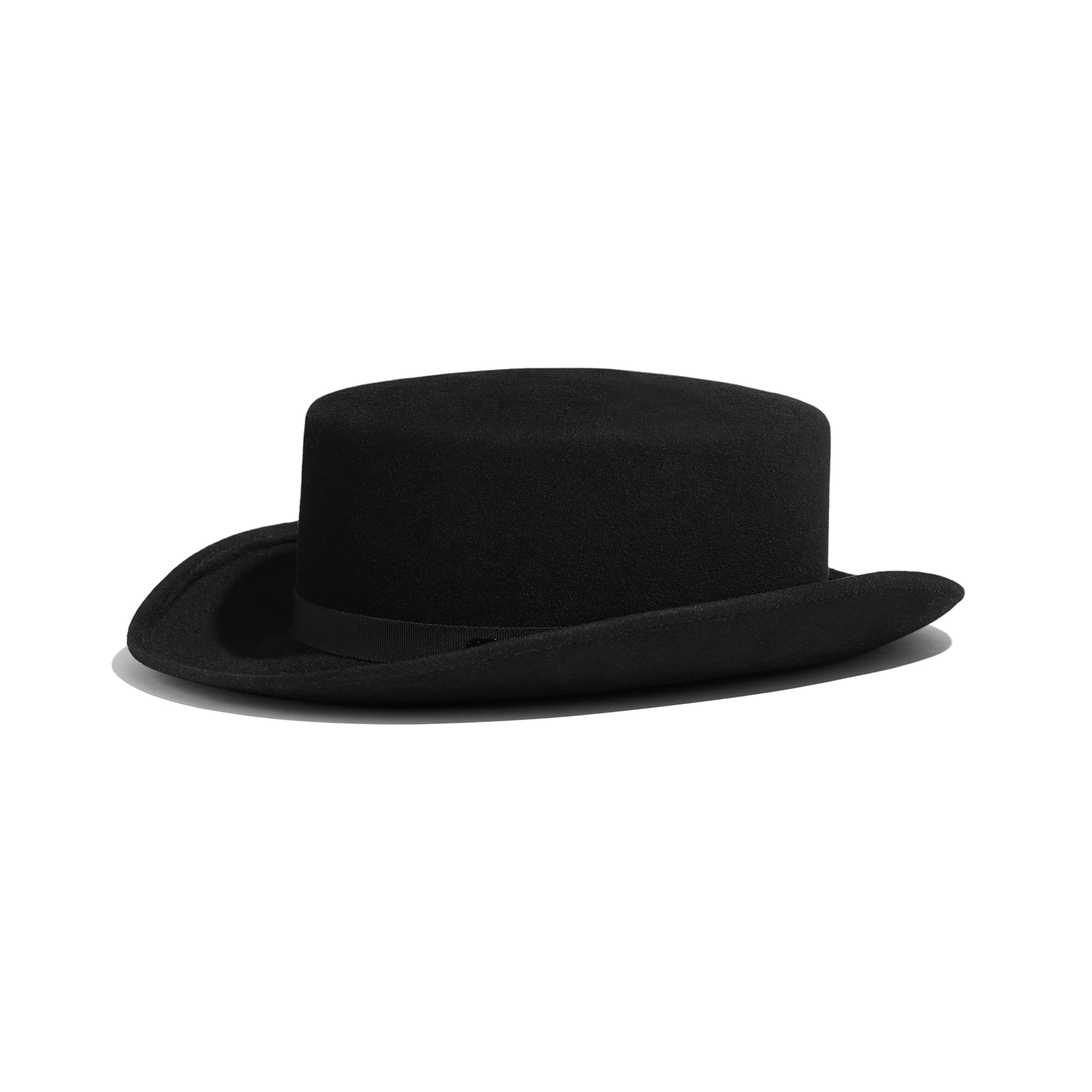 Hat - Black - Felt & Grosgrain - Default view - see standard sized version