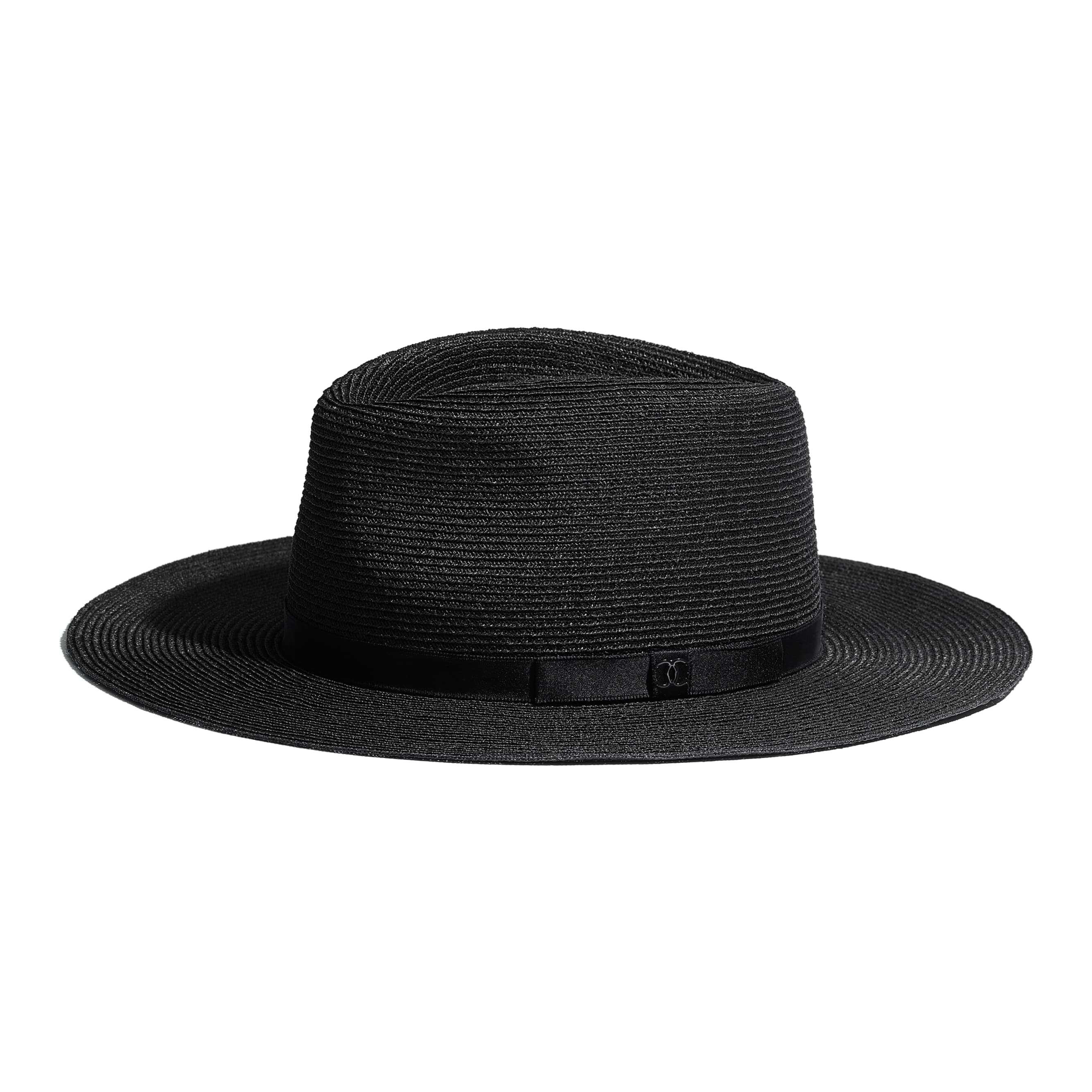Hat - Black - Straw & Silk - Default view - see standard sized version
