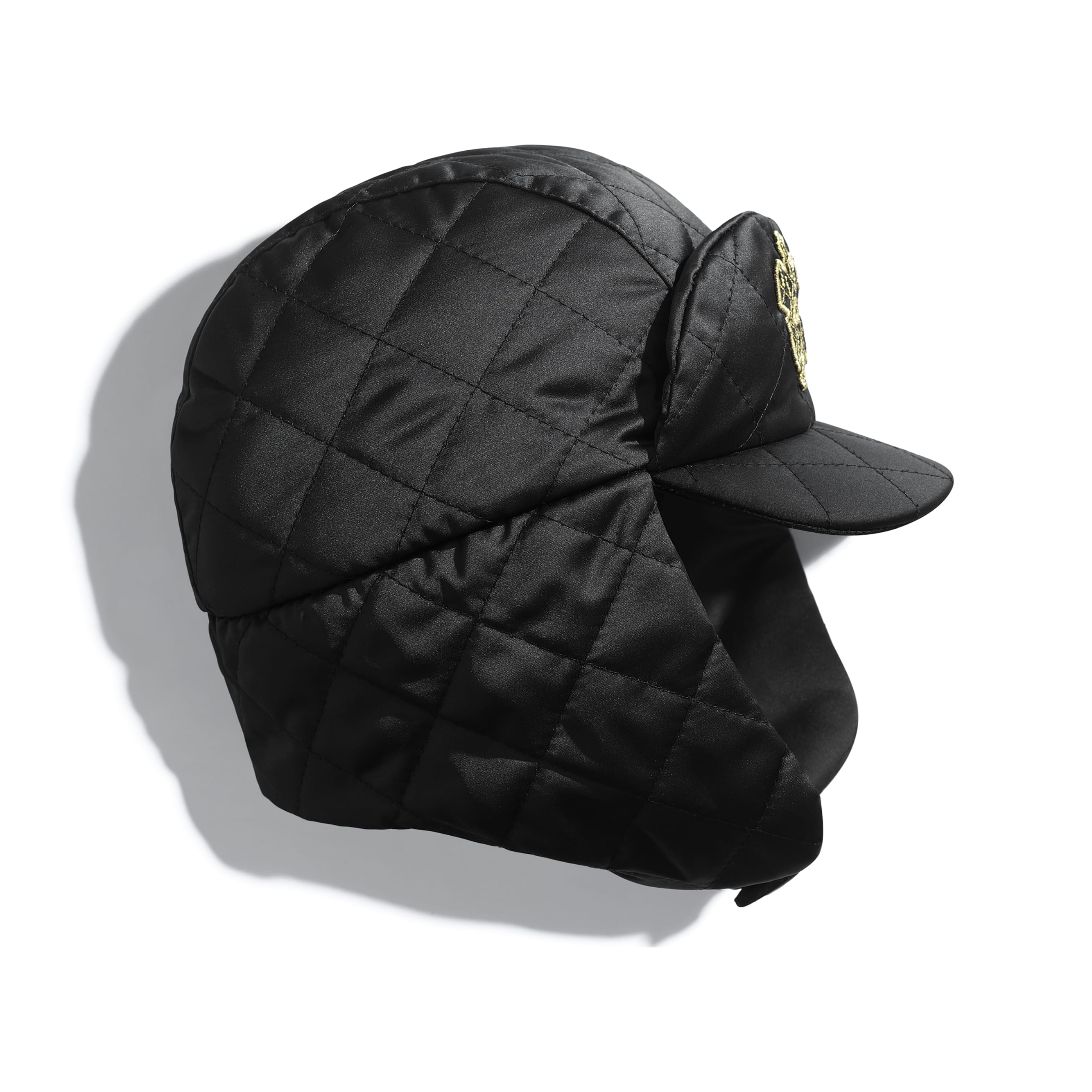 Hat - Black - Synthetic Fibres - Default view - see standard sized version