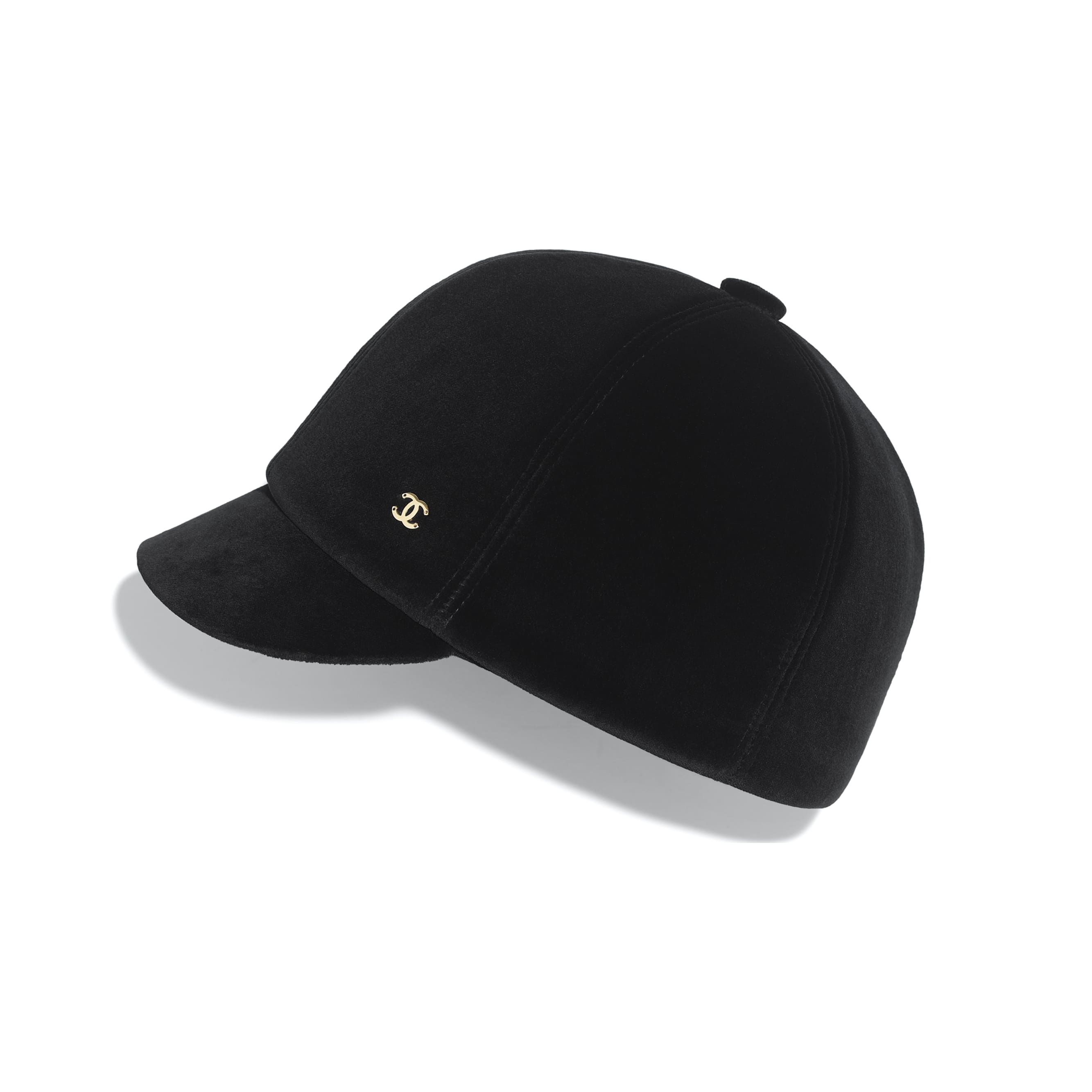 Hat - Black - Velvet - CHANEL - Default view - see standard sized version