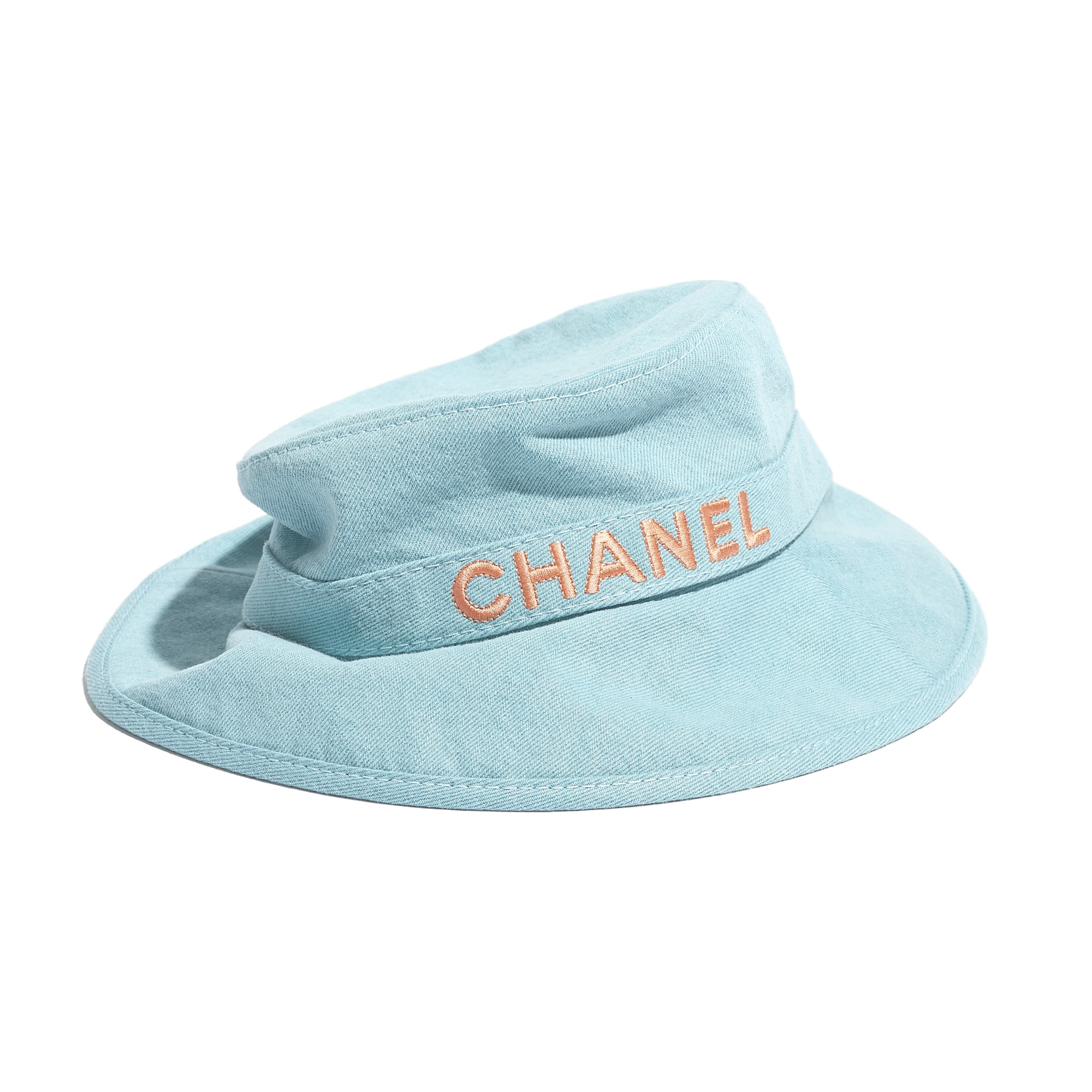 Hat - Blue & Orange - Cotton - CHANEL - Alternative view - see standard sized version