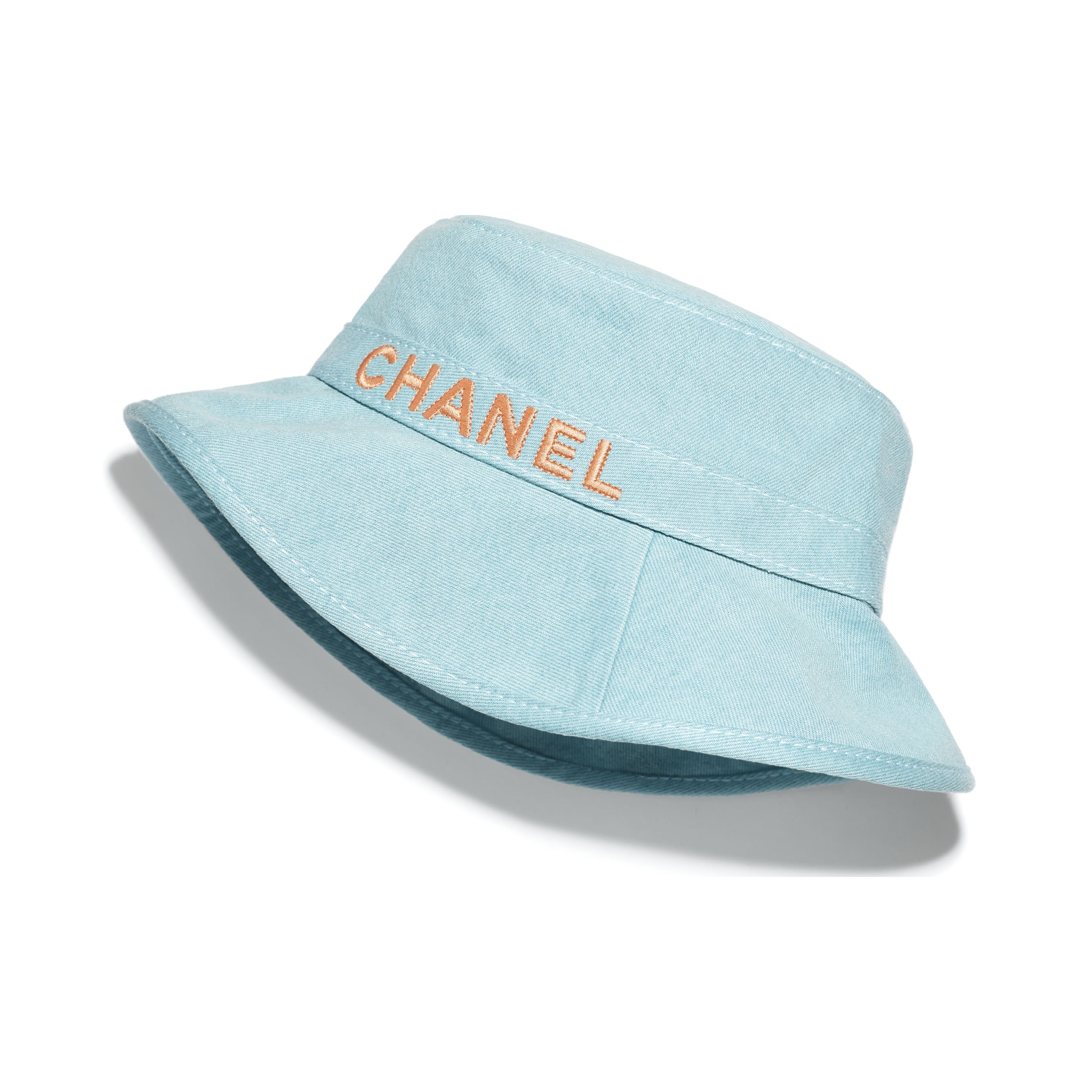 Hat - Blue & Orange - Cotton - CHANEL - Default view - see standard sized version