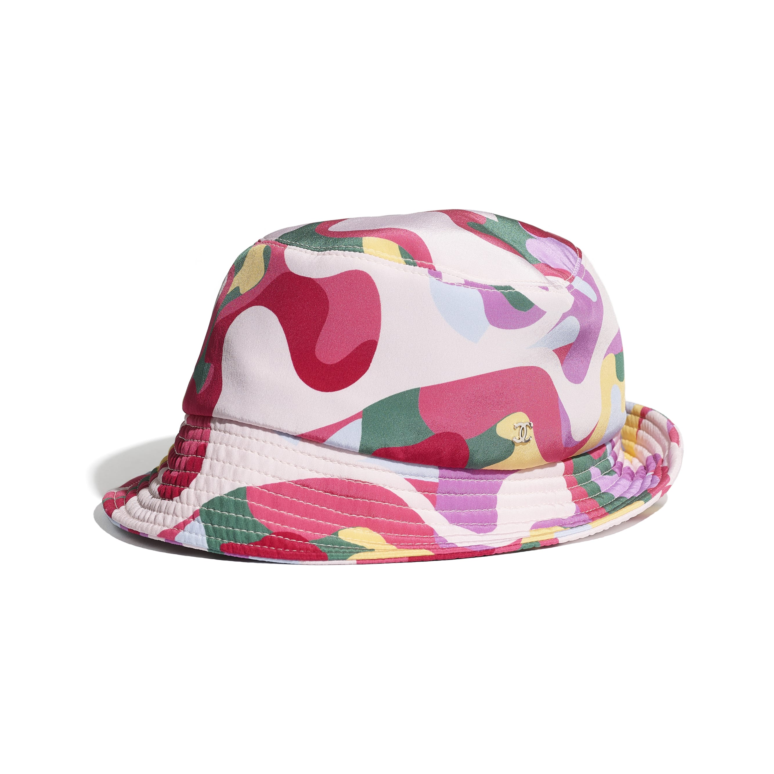 Hat - Pink, Green, Yellow & Purple - Cotton - CHANEL - Alternative view - see standard sized version