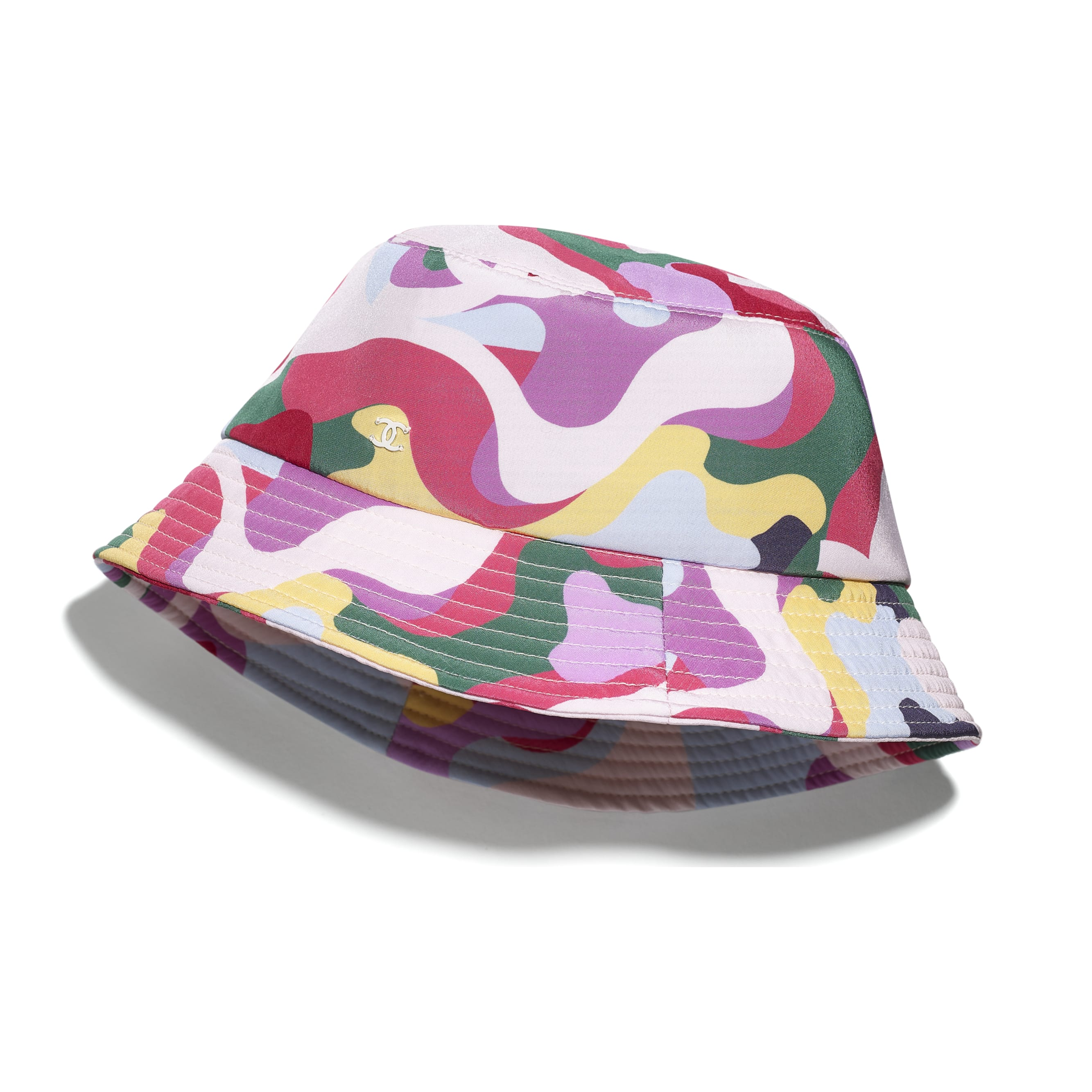 Hat - Pink, Green, Yellow & Purple - Cotton - CHANEL - Default view - see standard sized version