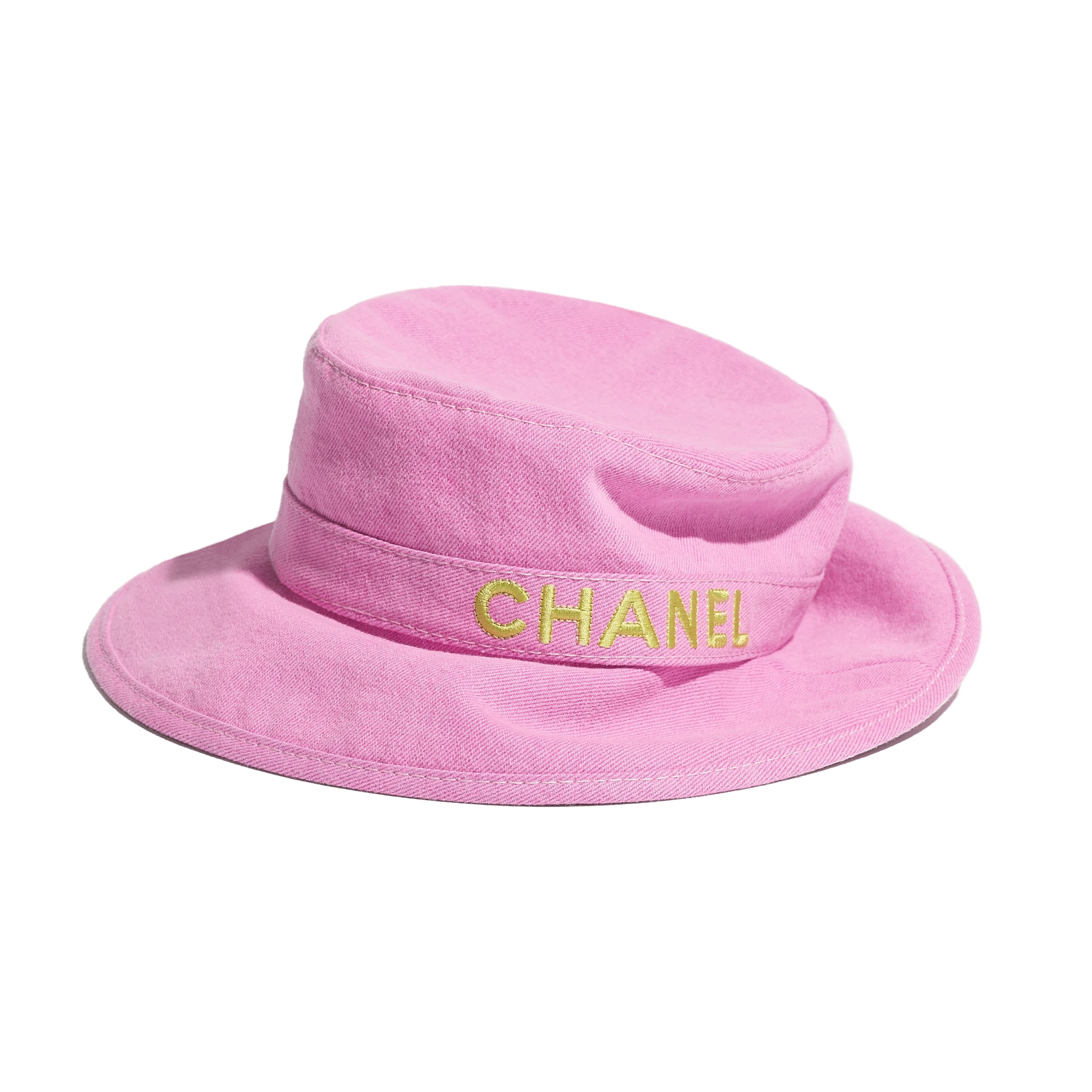 Hat - Pink & Yellow - Cotton - CHANEL - Alternative view - see standard sized version