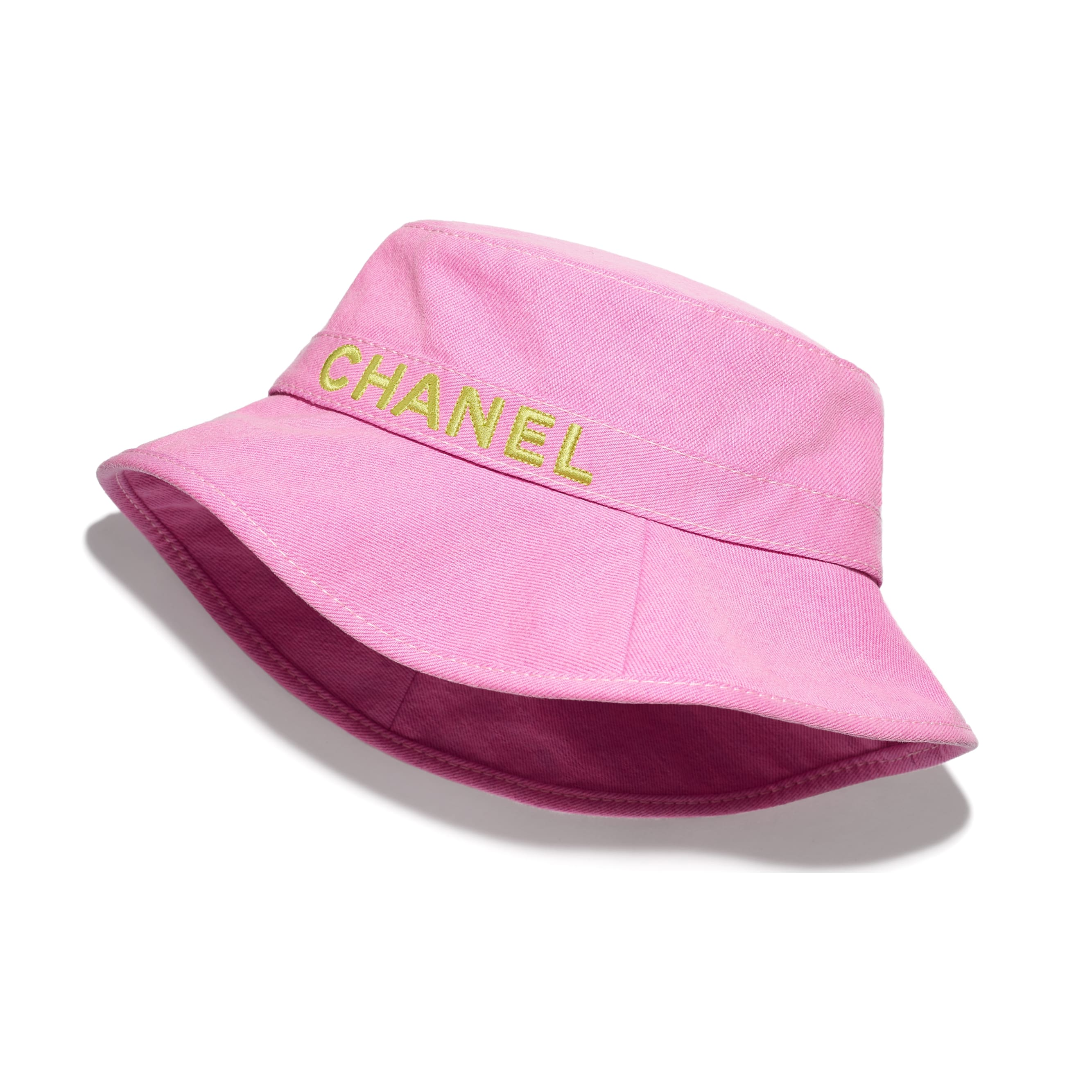 Hat - Pink & Yellow - Cotton - CHANEL - Default view - see standard sized version