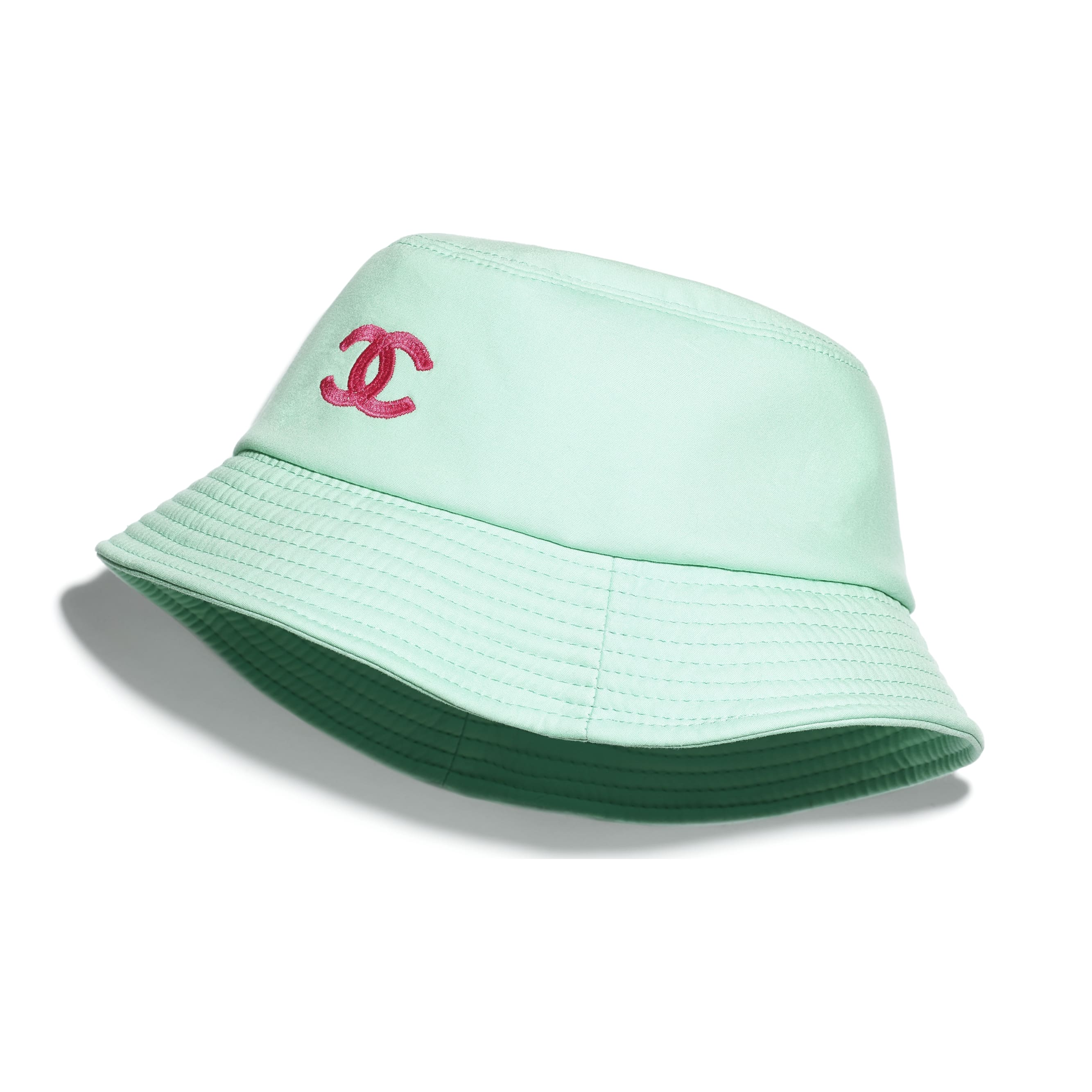 Hat - Turquoise & Fuchsia - Cotton - CHANEL - Default view - see standard sized version