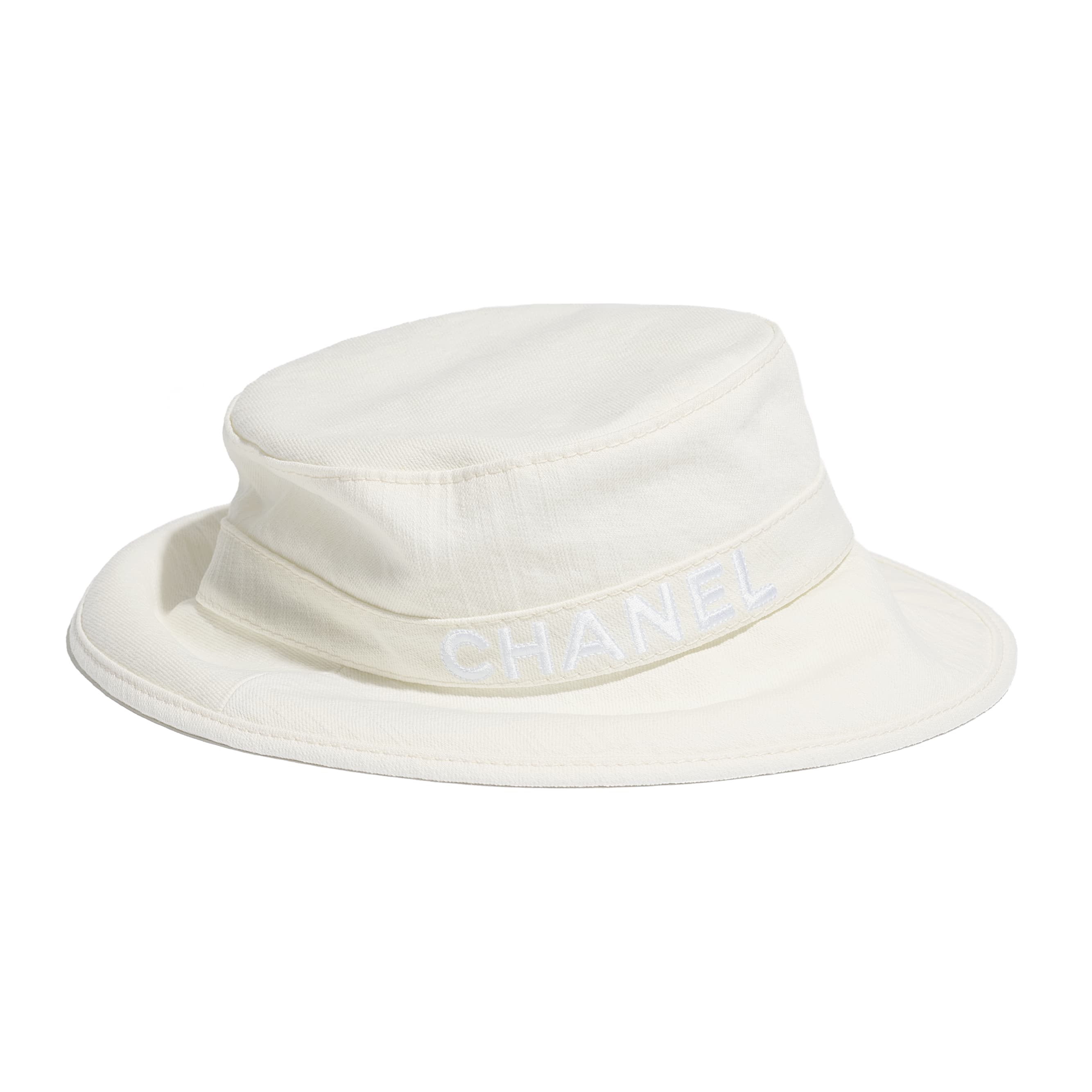 Hat - White - Cotton - CHANEL - Alternative view - see standard sized version