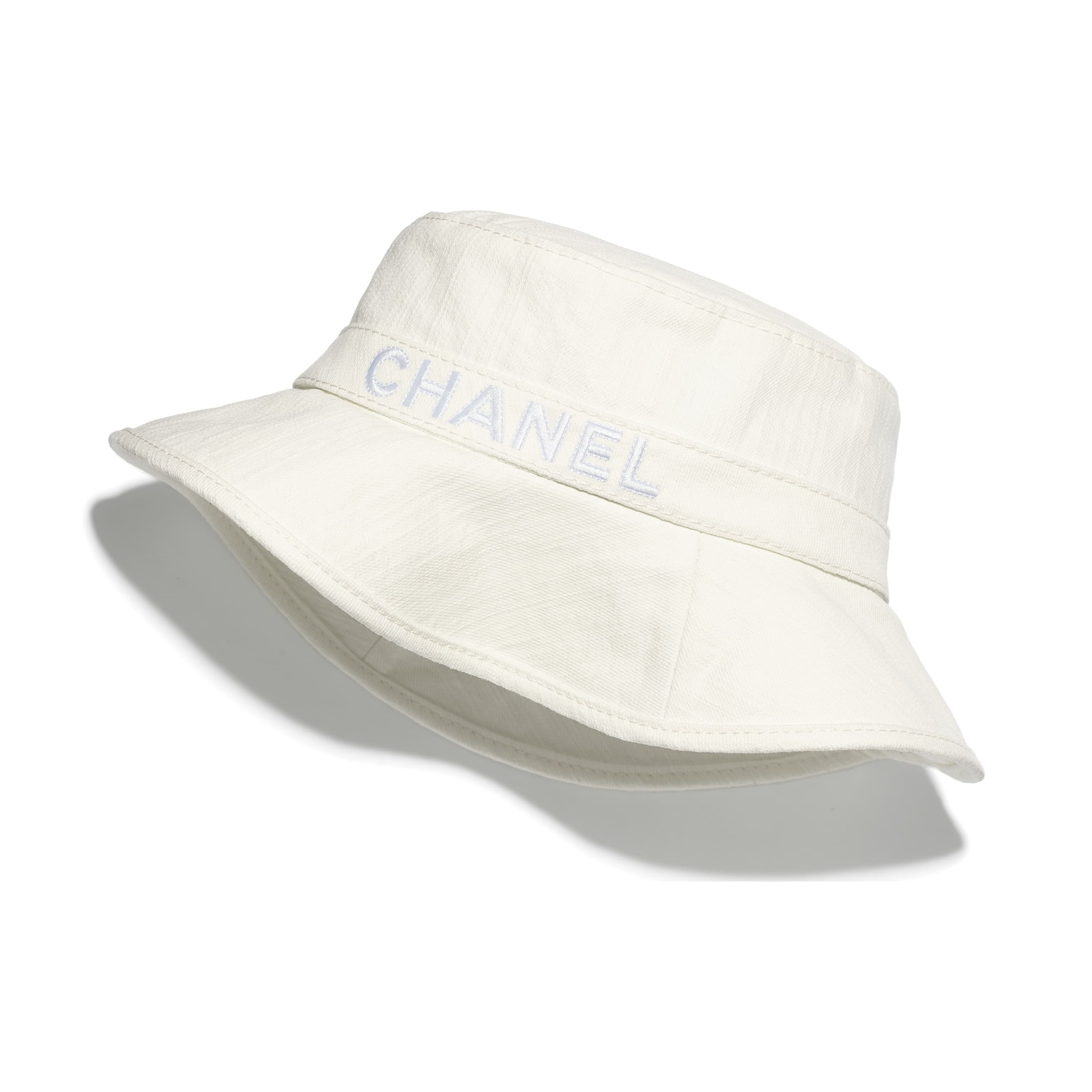 Hat - White - Cotton - CHANEL - Default view - see standard sized version