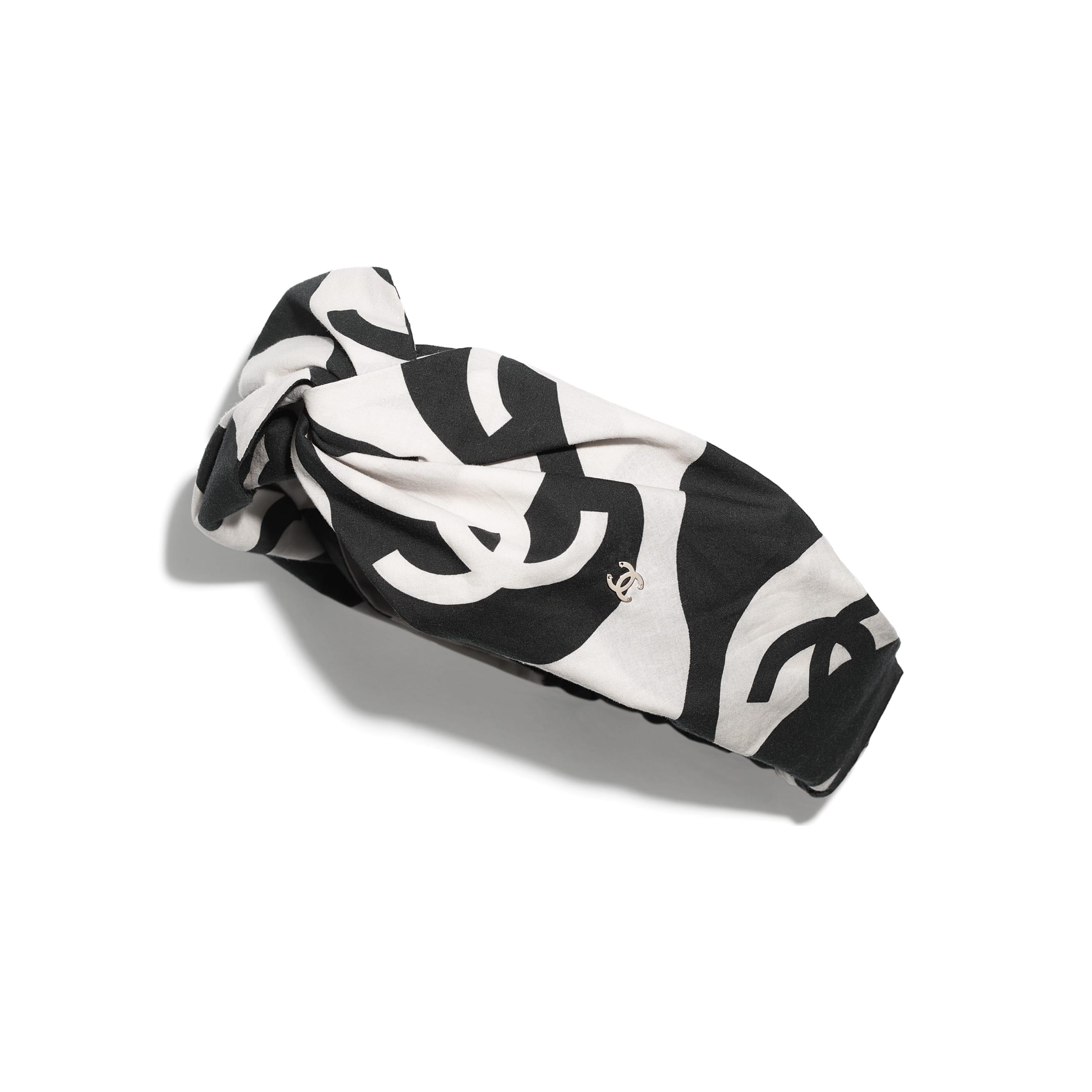 Headband - Black & Ecru - Cotton - CHANEL - Default view - see standard sized version