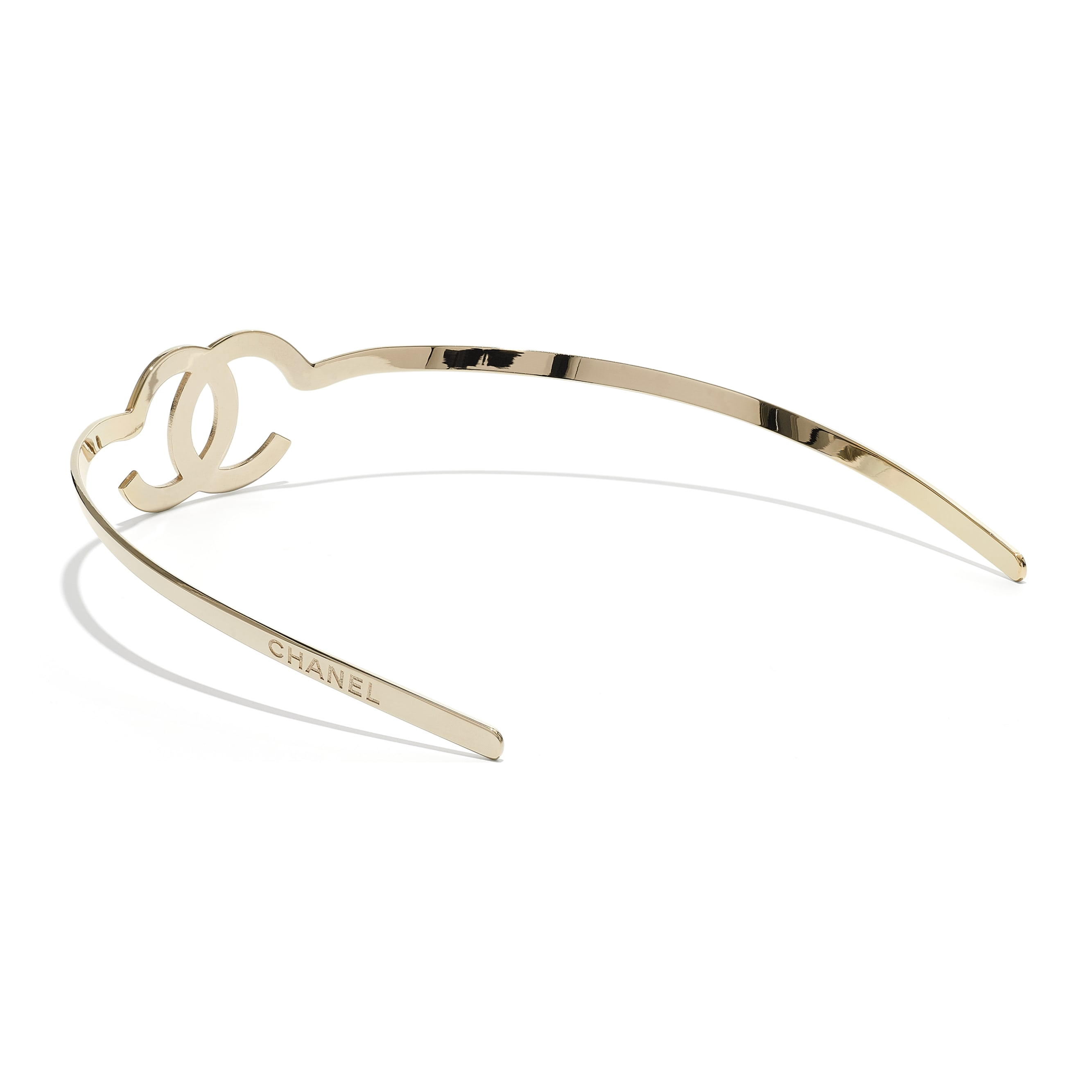 Headband - Gold - Metal - CHANEL - Alternative view - see standard sized version