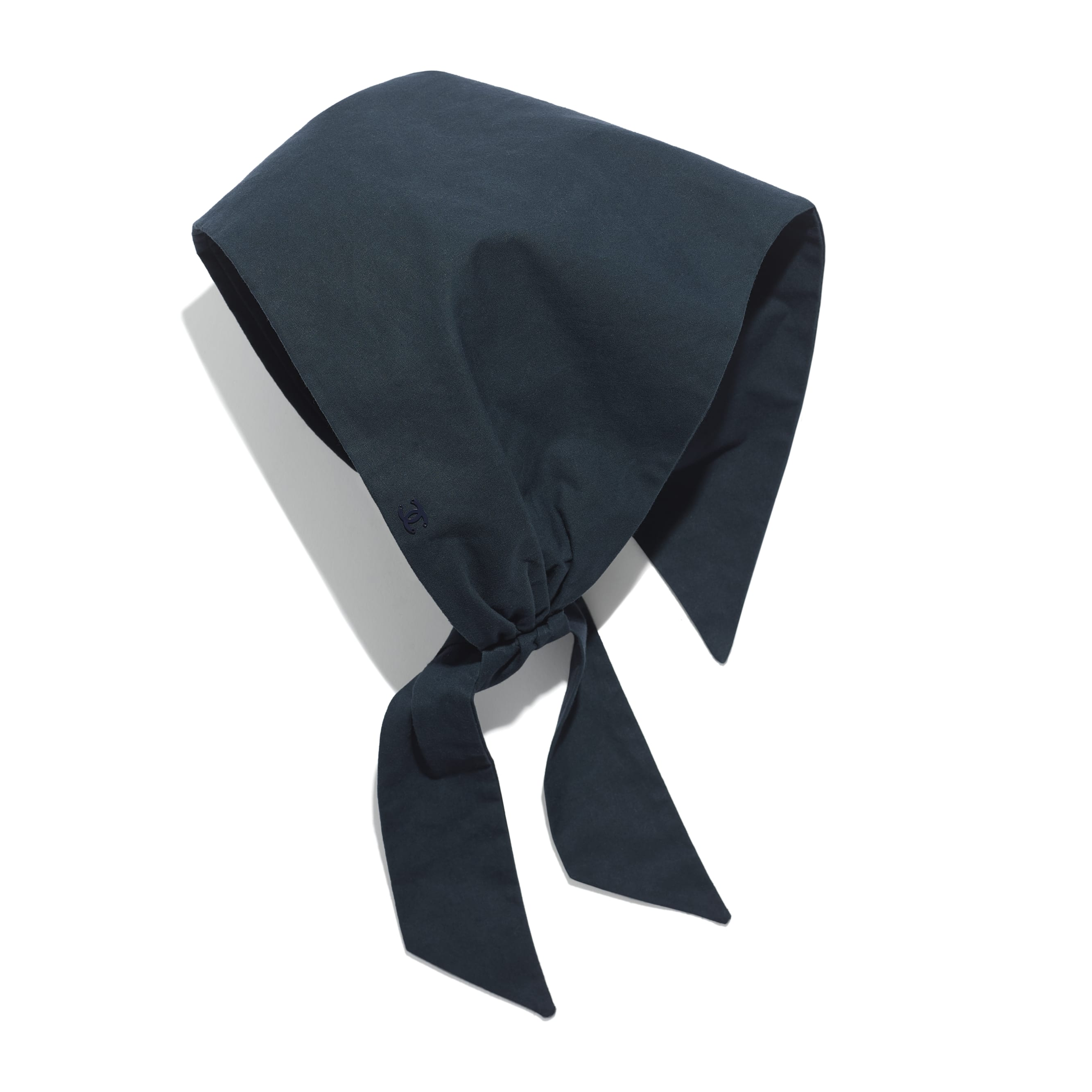 Headwear Scarf - Navy Blue - Cotton - Default view - see standard sized version