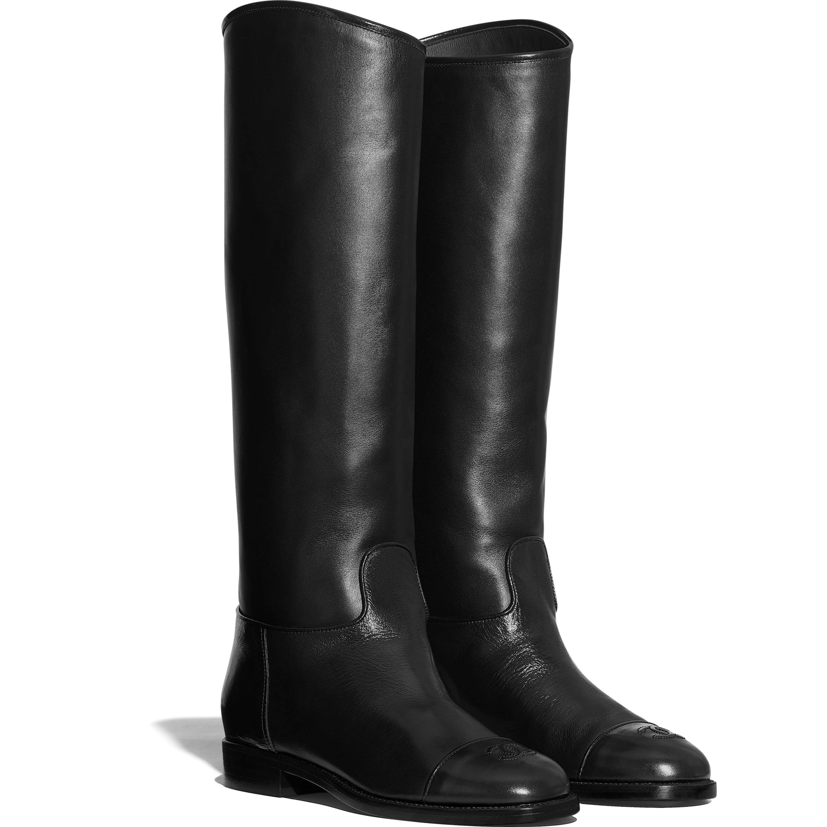 High Boots - Black - Calfskin - Alternative view - see standard sized version