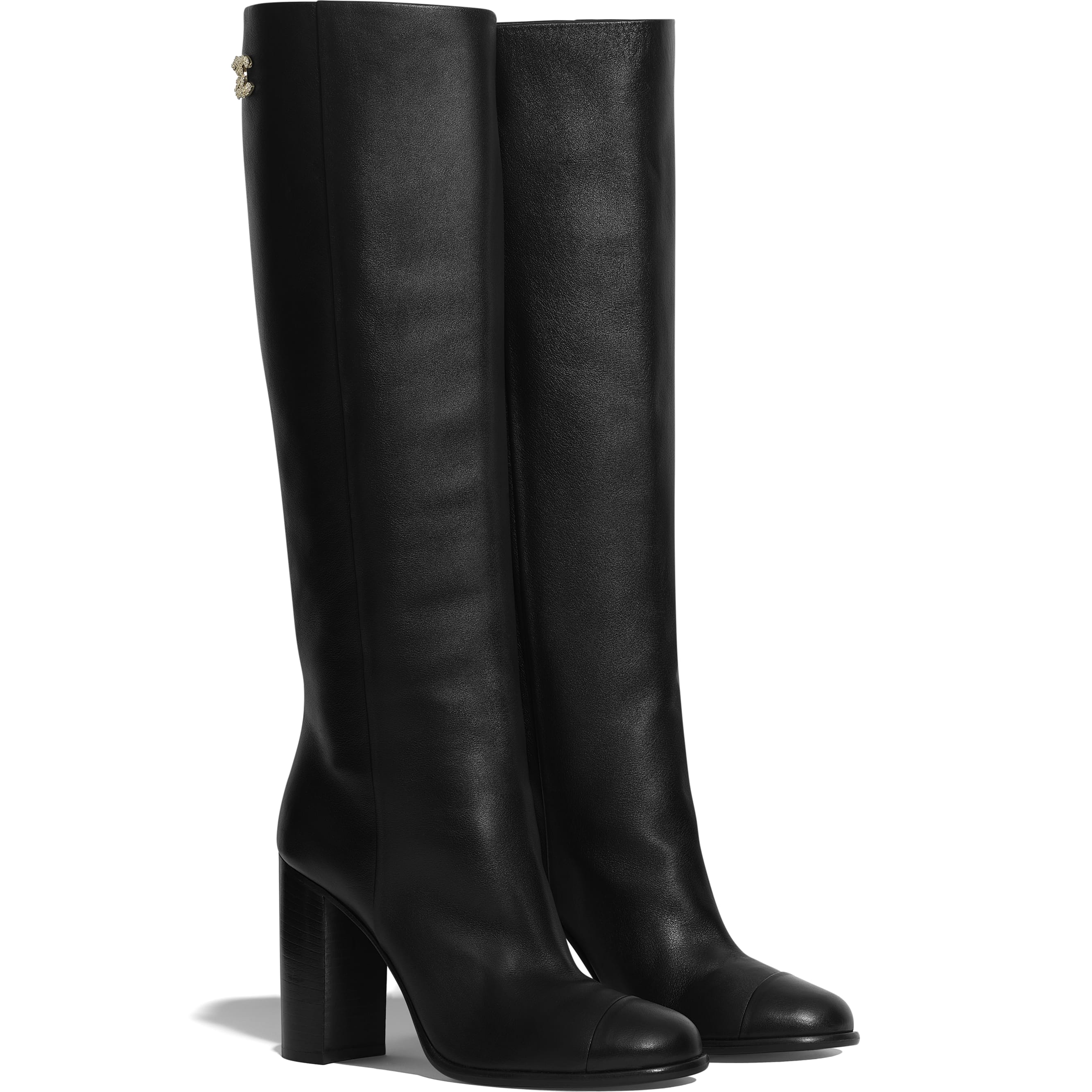 High Boots - Black - Calfskin - CHANEL - Alternative view - see standard sized version