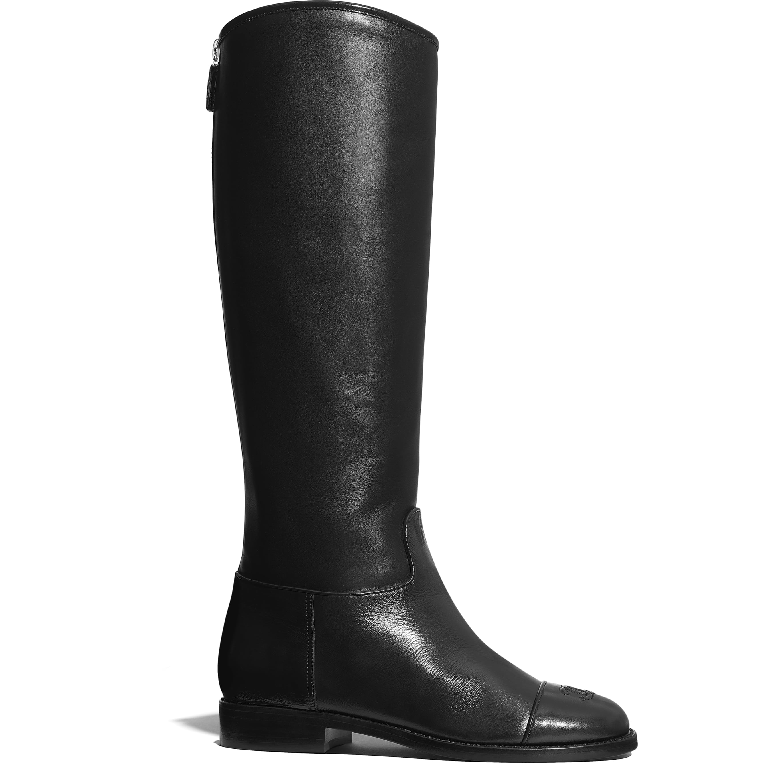 High Boots - Black - Calfskin - Default view - see standard sized version