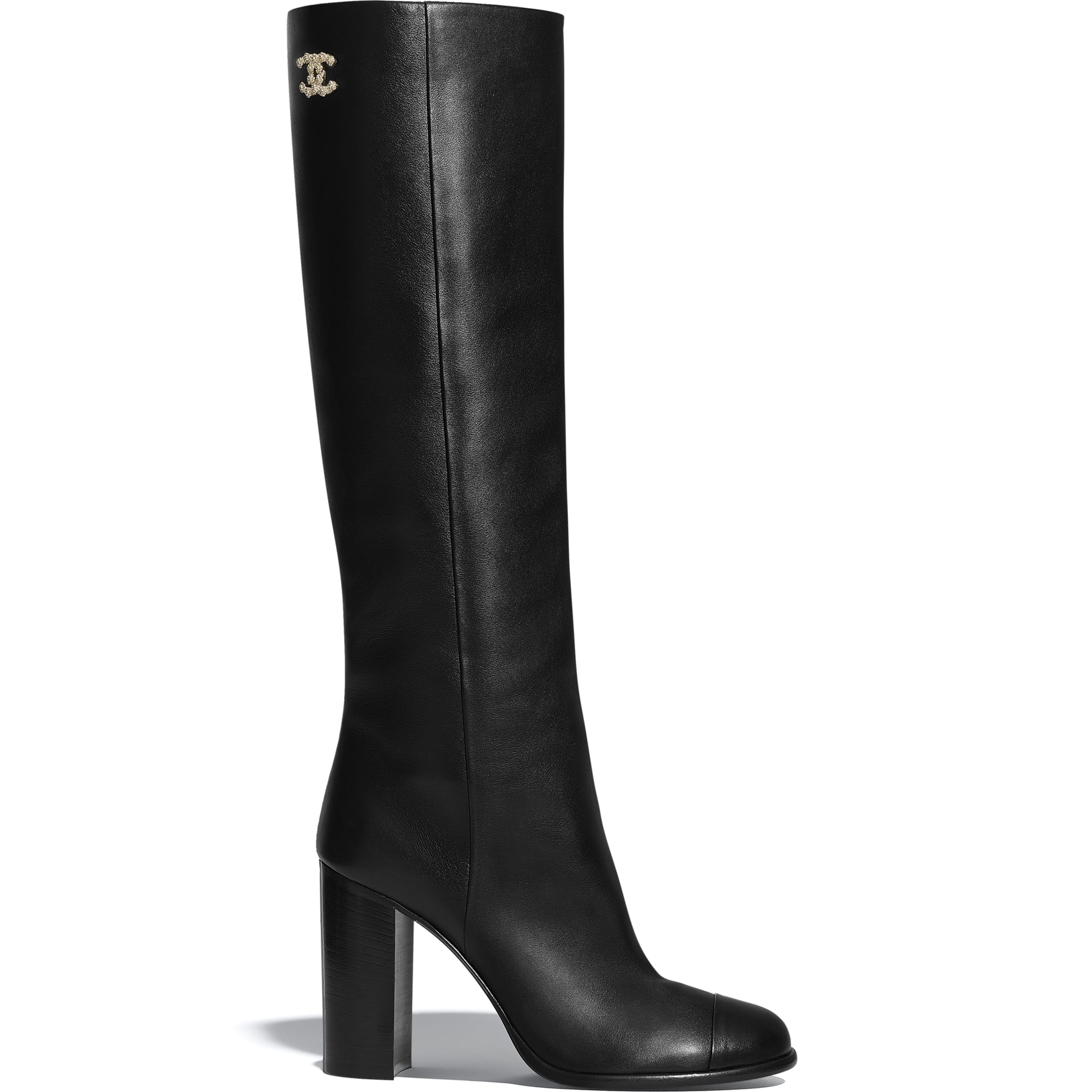 High Boots - Black - Calfskin - CHANEL - Default view - see standard sized version