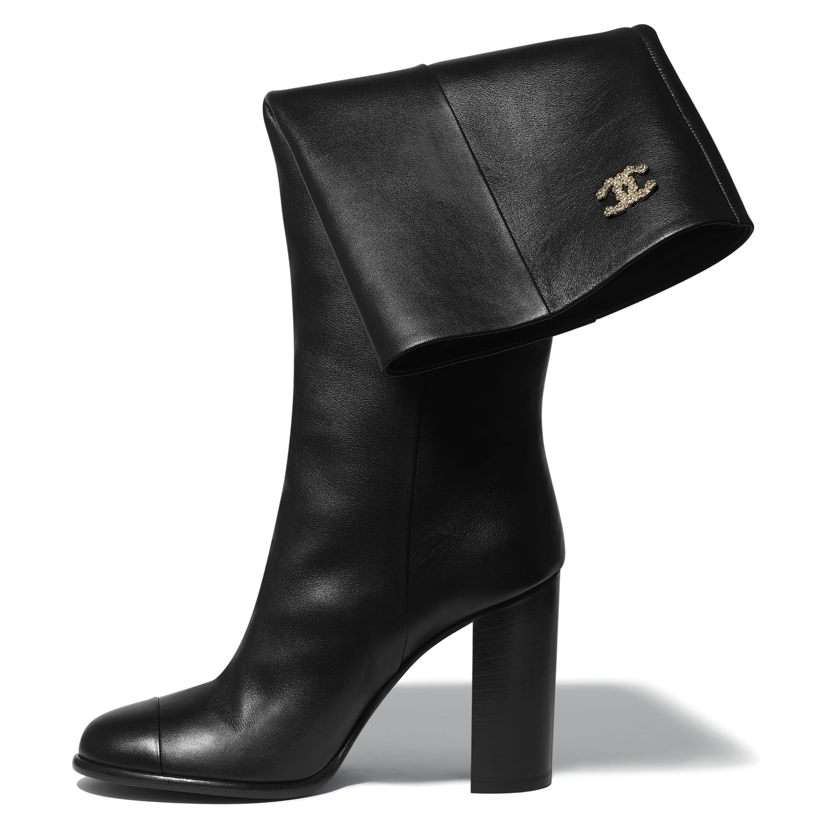 High Boots - Black - Calfskin - CHANEL - Extra view - see standard sized version