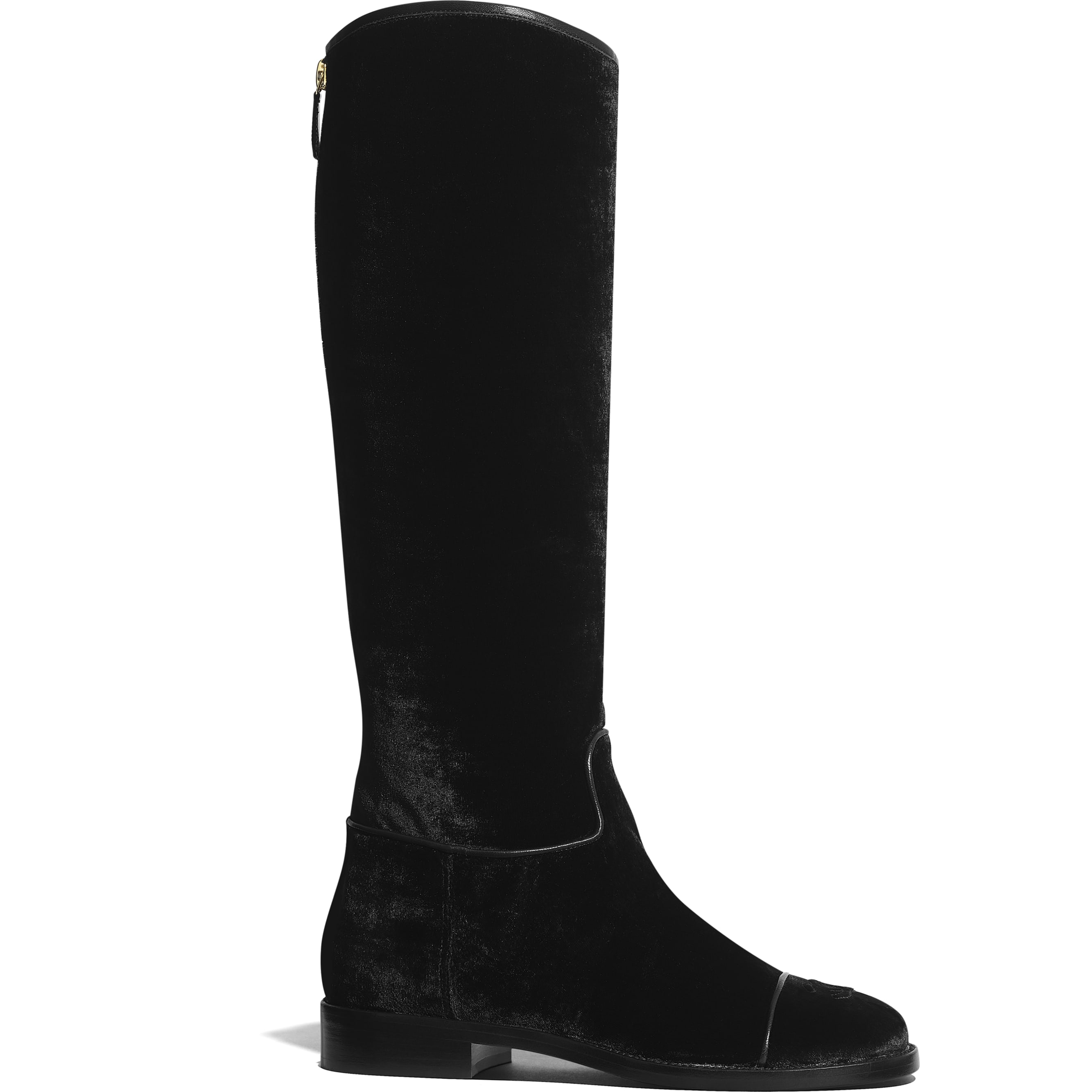 High Boots - Black - Velvet - Default view - see standard sized version